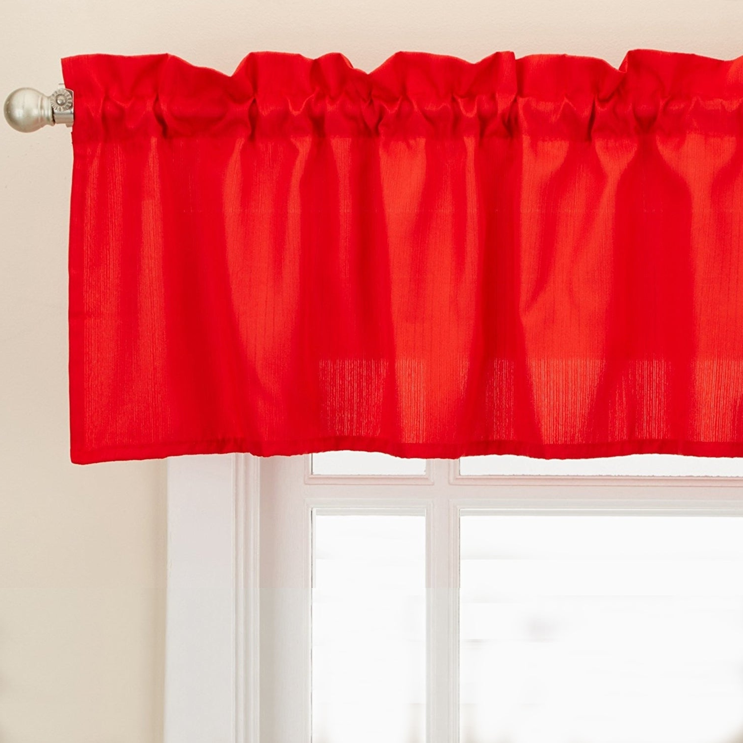 Newest Opaque Red Ribcord Kitchen Curtain Pieces – Tiers/ Valances/ Swags Pertaining To 5 Piece Burgundy Embroidered Cabernet Kitchen Curtain Sets (View 17 of 20)