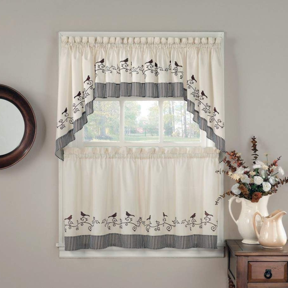 Newest Pinterest Pertaining To Traditional Two Piece Tailored Tier And Swag Window Curtains Sets With Ornate Rooster Print (View 9 of 20)