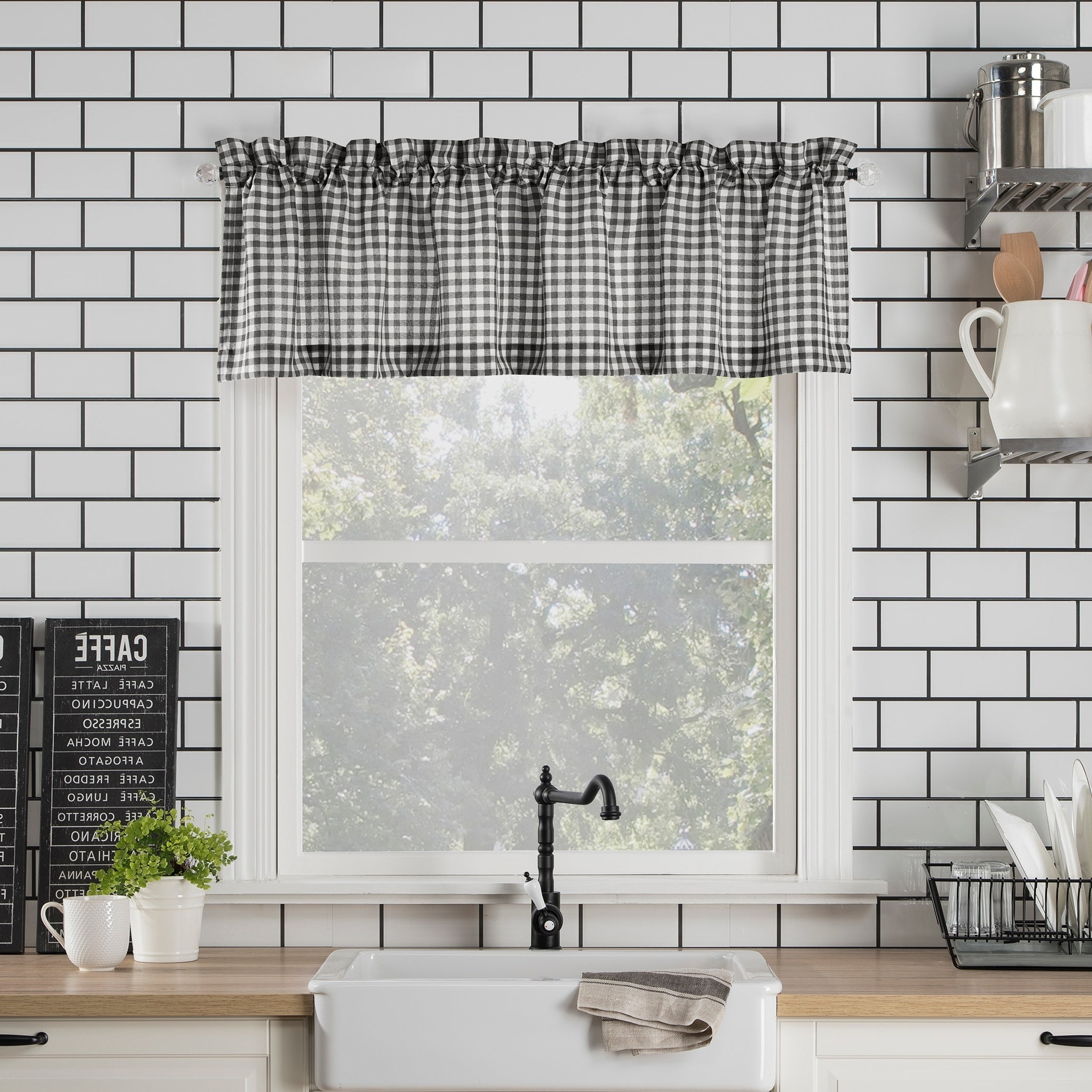 Newest Semi Sheer Rod Pocket Kitchen Curtain Valance And Tiers Sets Intended For No (View 9 of 20)