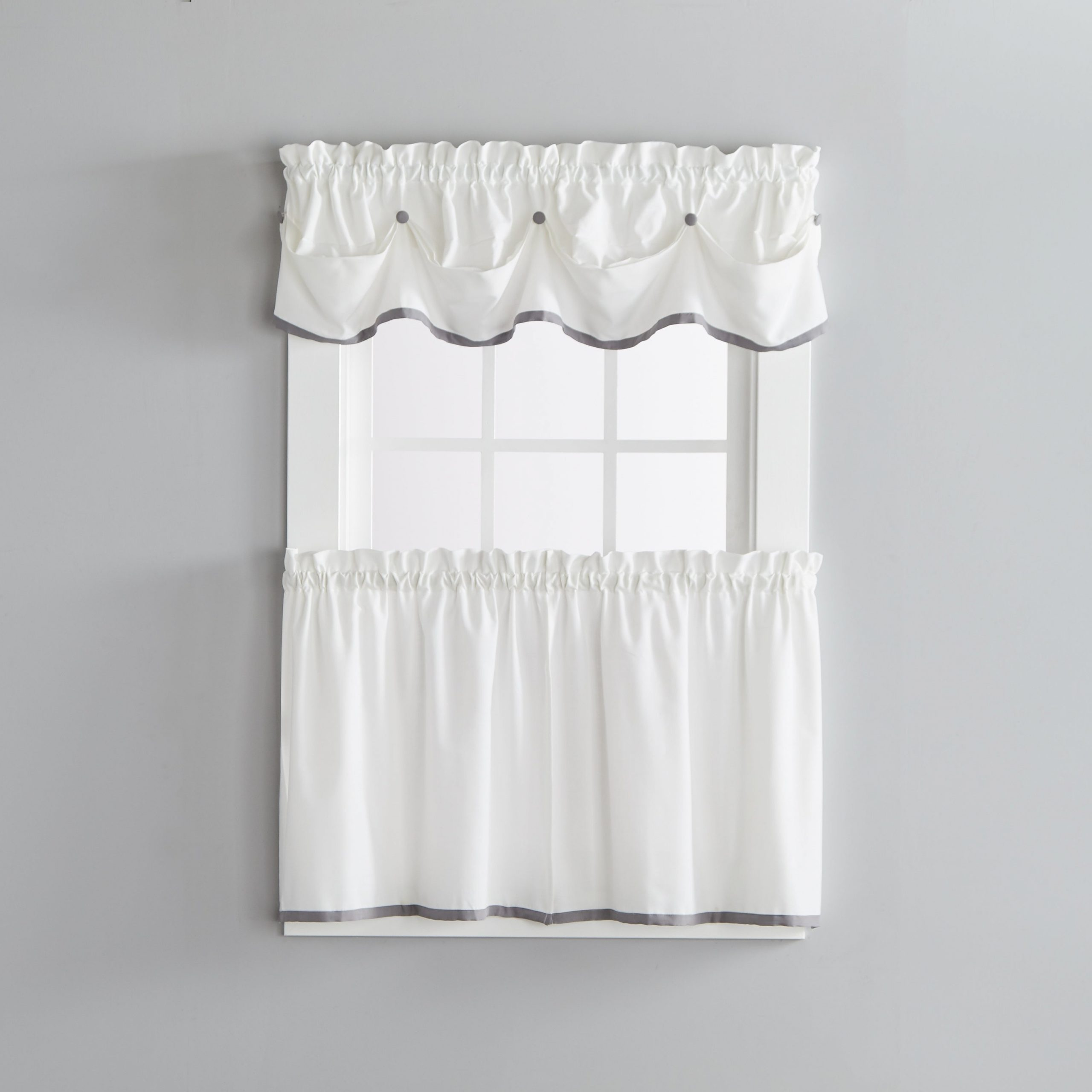 Newest Skl Home Manor 24 Inch Tier Pair In Dove Gray With Regard To Dove Gray Curtain Tier Pairs (View 4 of 20)