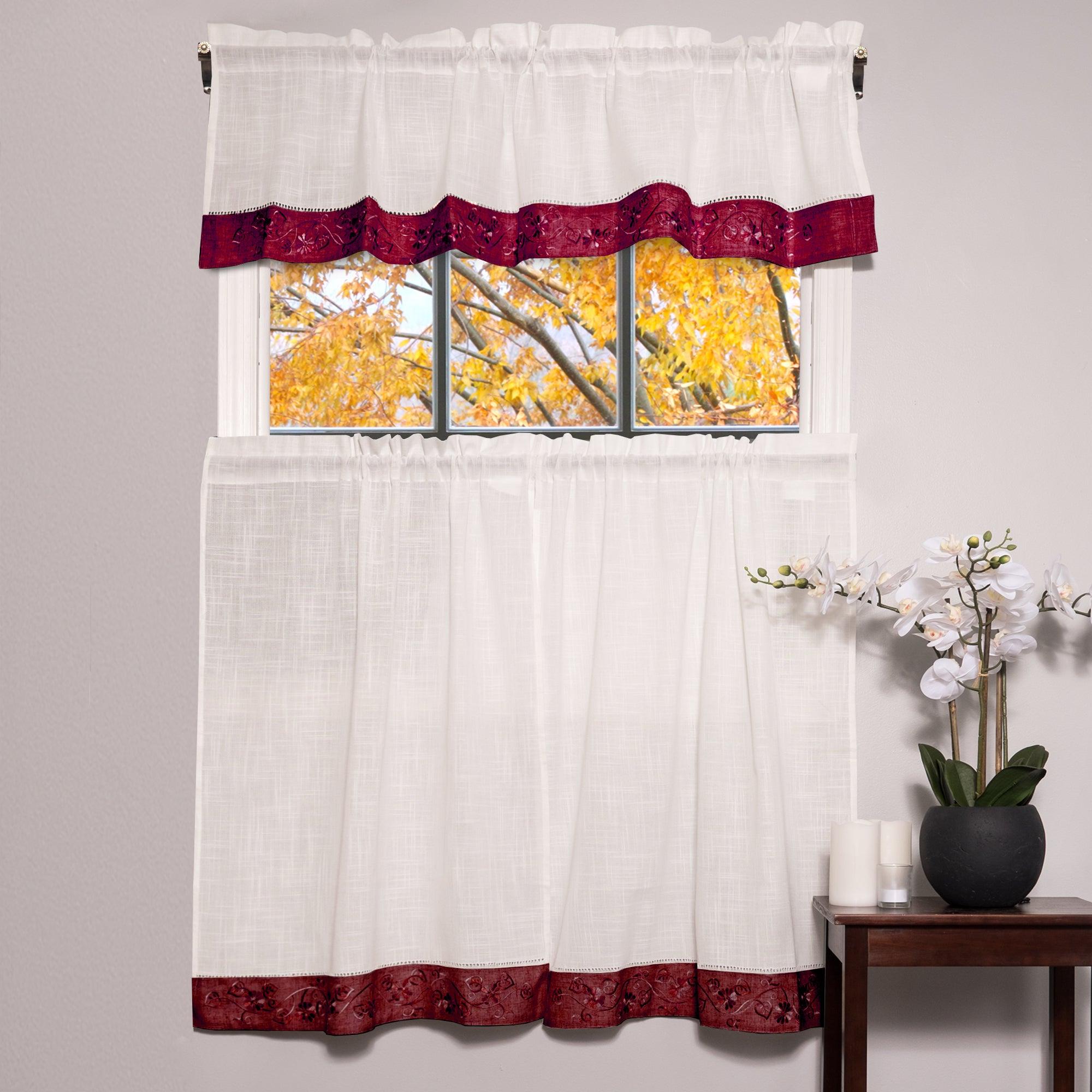 Featured Photo of Oakwood Linen Style Decorative Window Curtain Tier Sets
