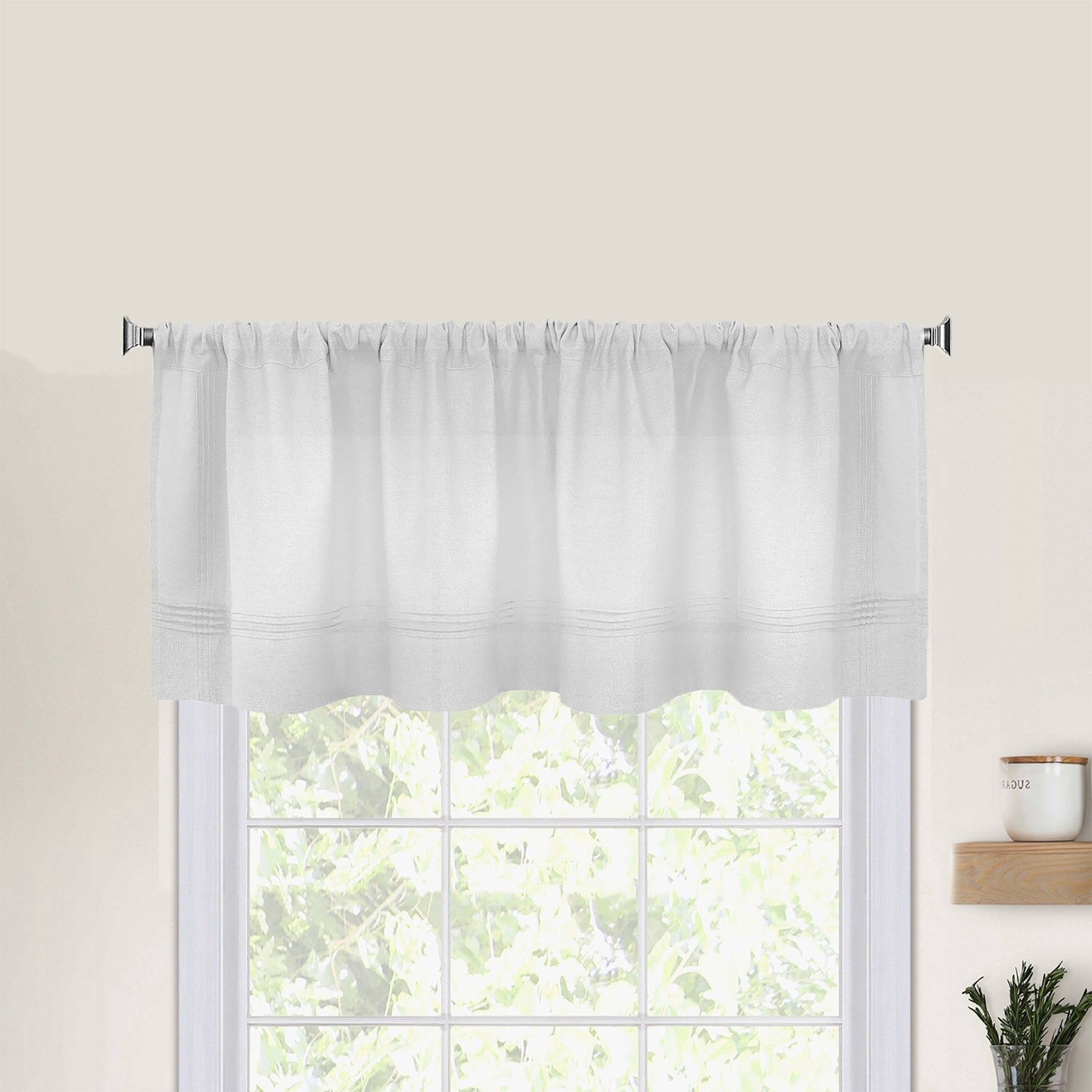 Pintuck Kitchen Window Valance Intended For 2020 Pintuck Kitchen Window Tiers (View 5 of 20)