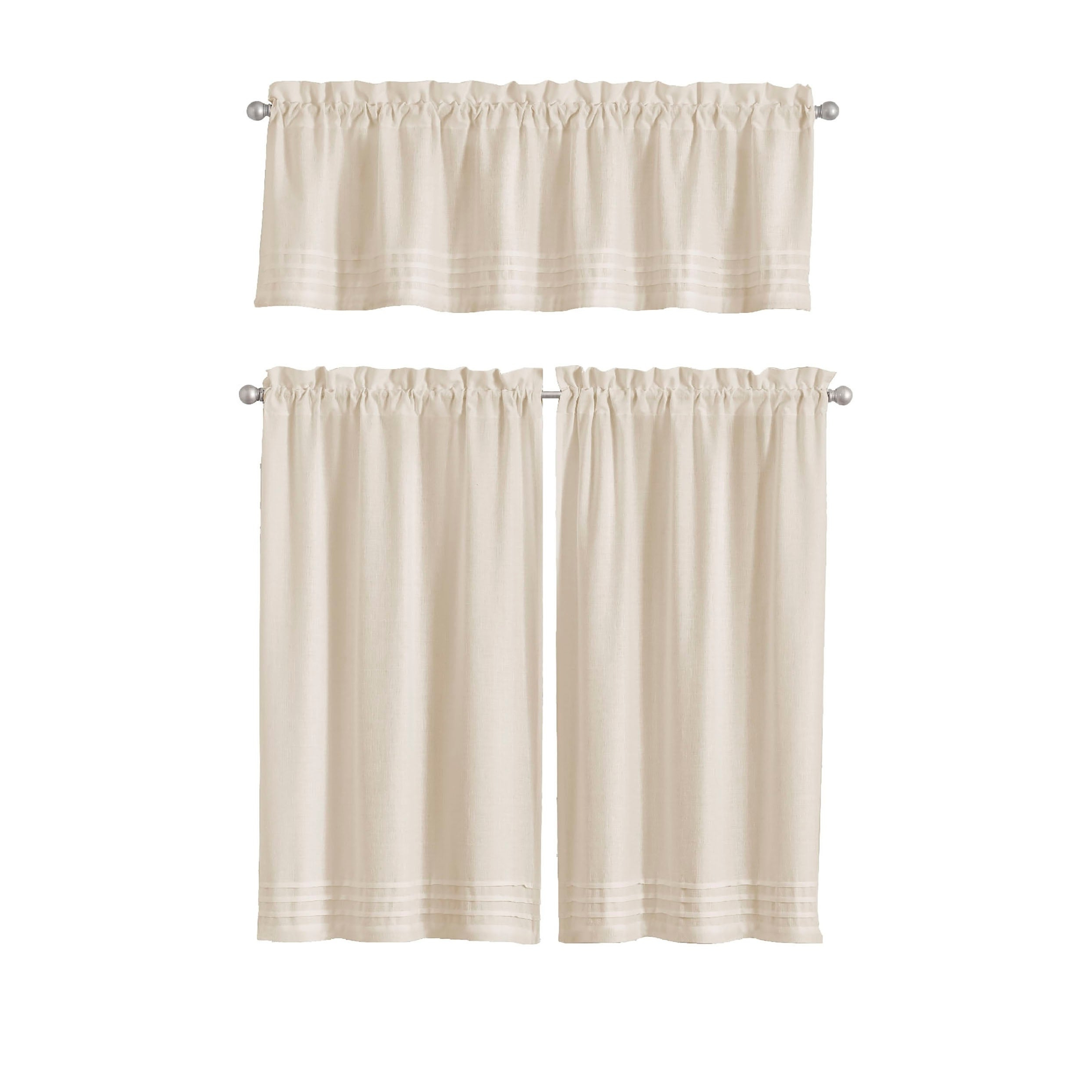 Pleated Curtain Tiers Pertaining To Current Vue Window Solutions Kingsbury Pleated Tier Pair (View 13 of 20)