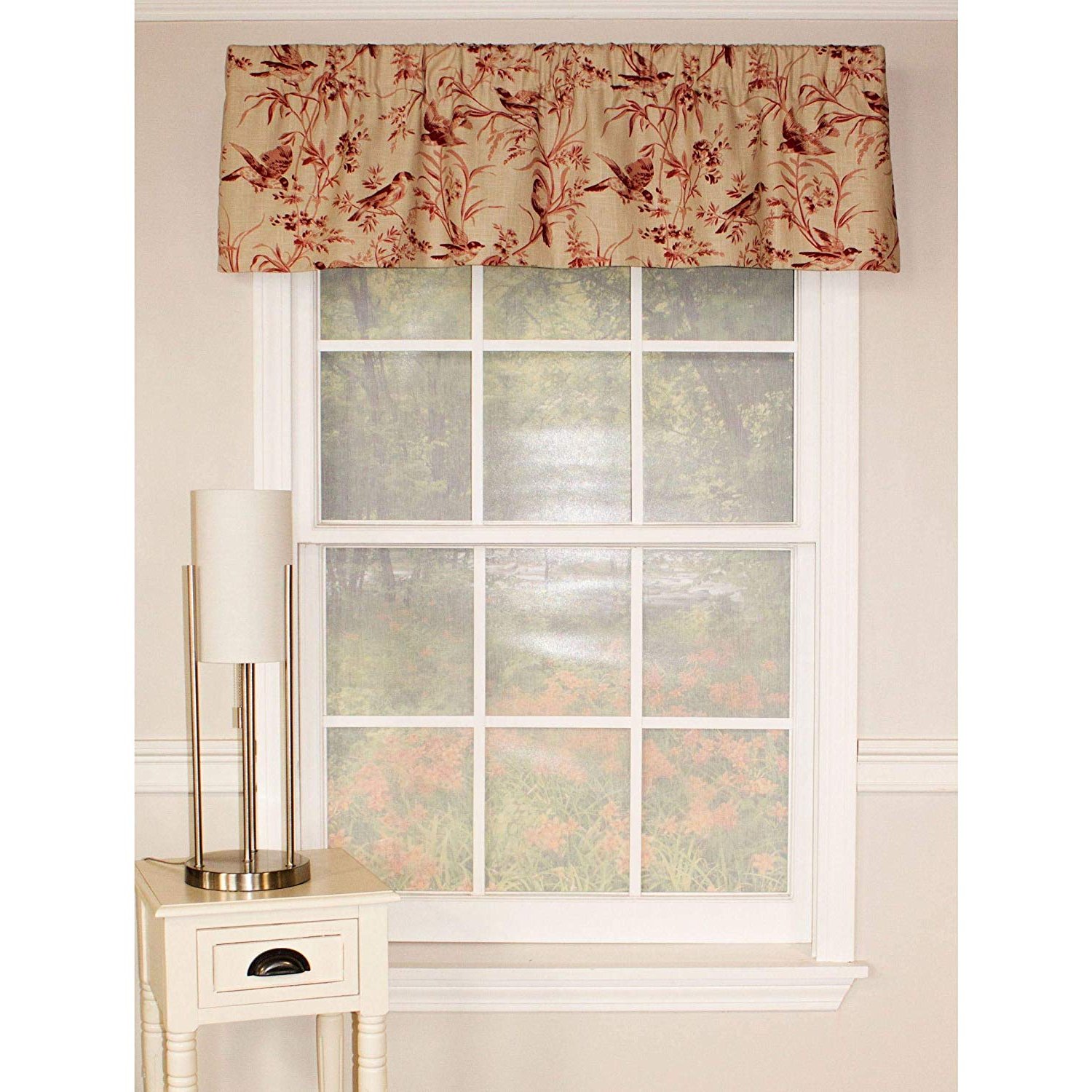 Popular Amazon: Rlf Home Aviary Toile Straight Valance: Home With Regard To Aviary Window Curtains (View 9 of 20)