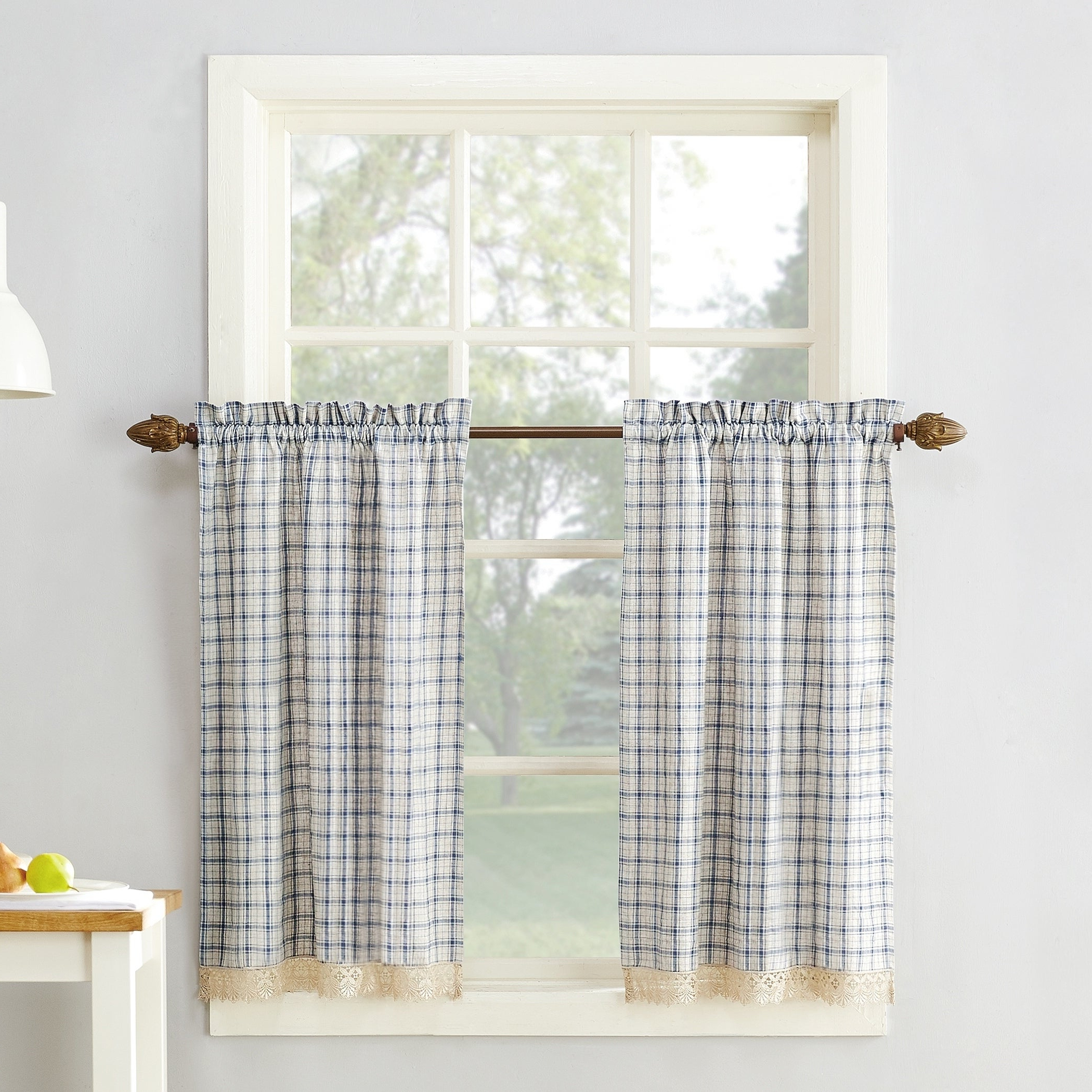 Popular Cotton Blend Grey Kitchen Curtain Tiers Inside No (View 15 of 20)