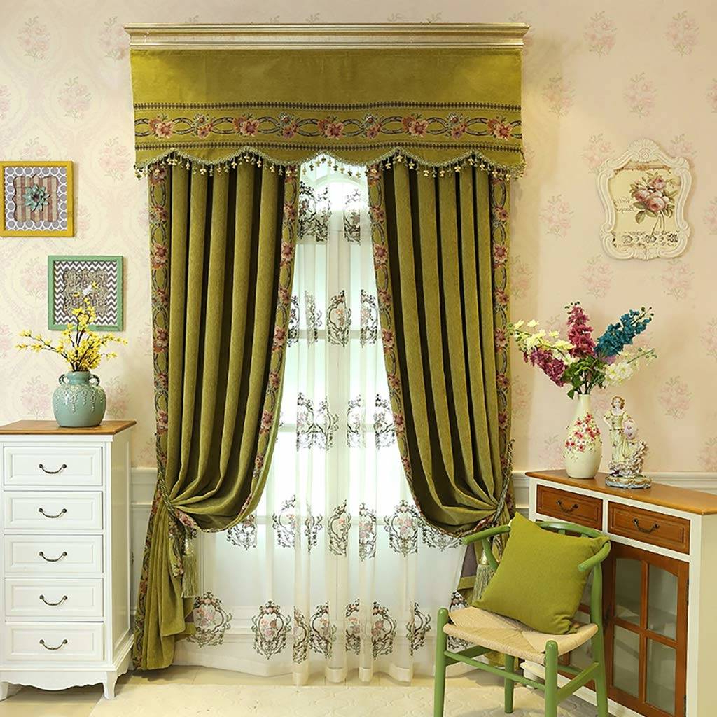 Popular Country Style Curtain Parts With White Daisy Lace Accent Regarding Pretty Country Lace Curtains Swags For Living Room Catalog (View 14 of 20)