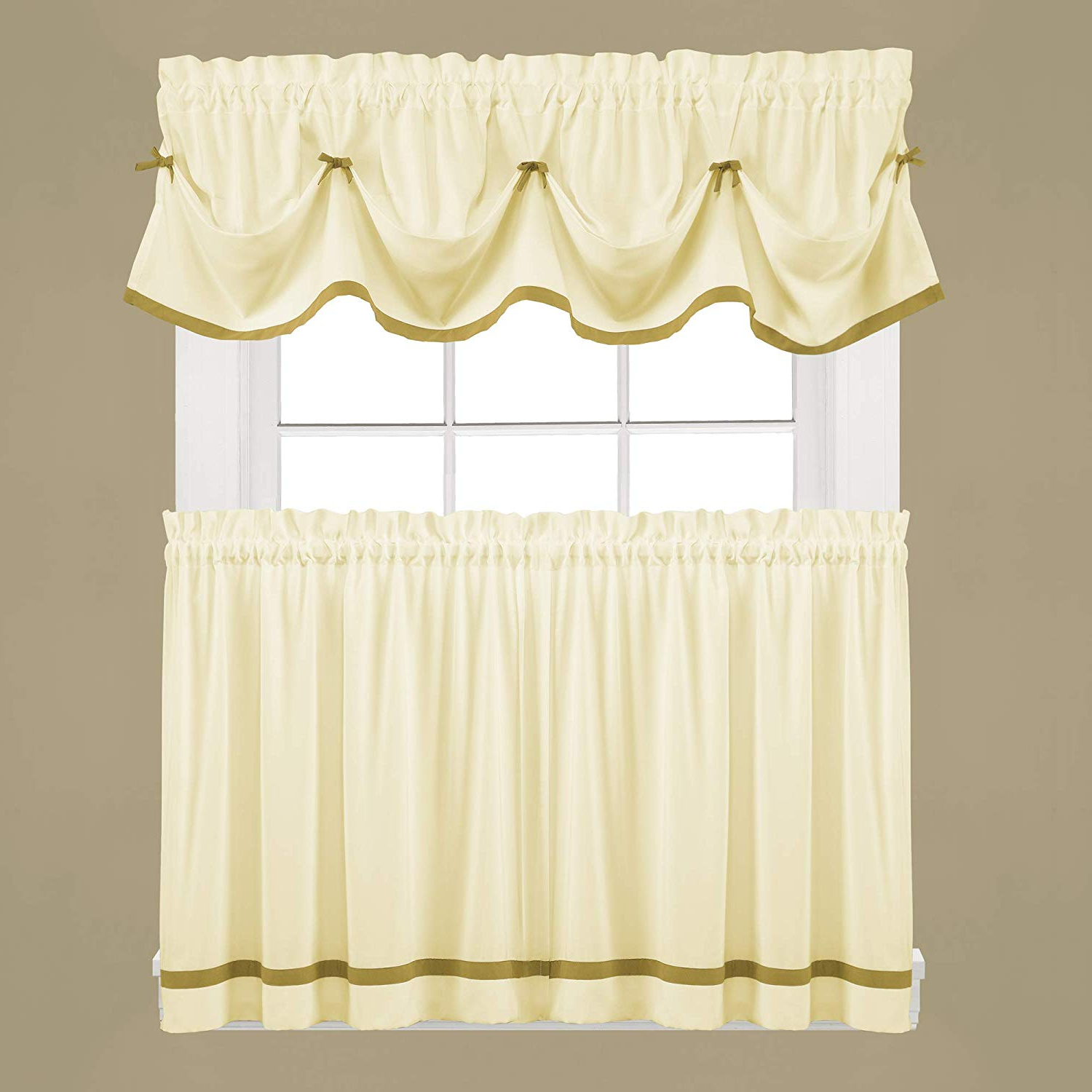 Popular Dove Gray Curtain Tier Pairs Throughout Skl Homesaturday Knight Ltd (View 16 of 20)