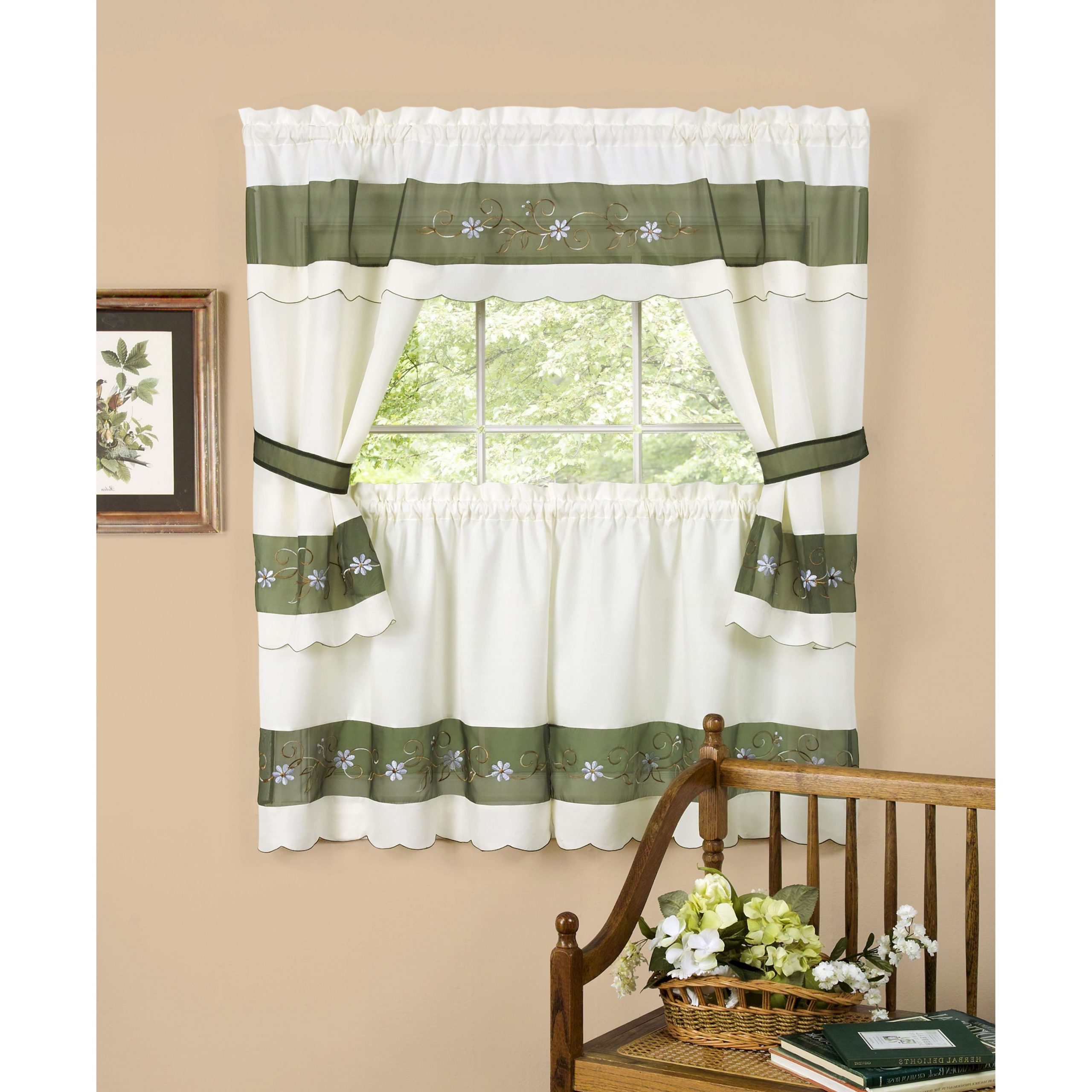 Popular Embellished Cottage Set, Berkshire For Cottage Ivy Curtain Tiers (View 20 of 20)