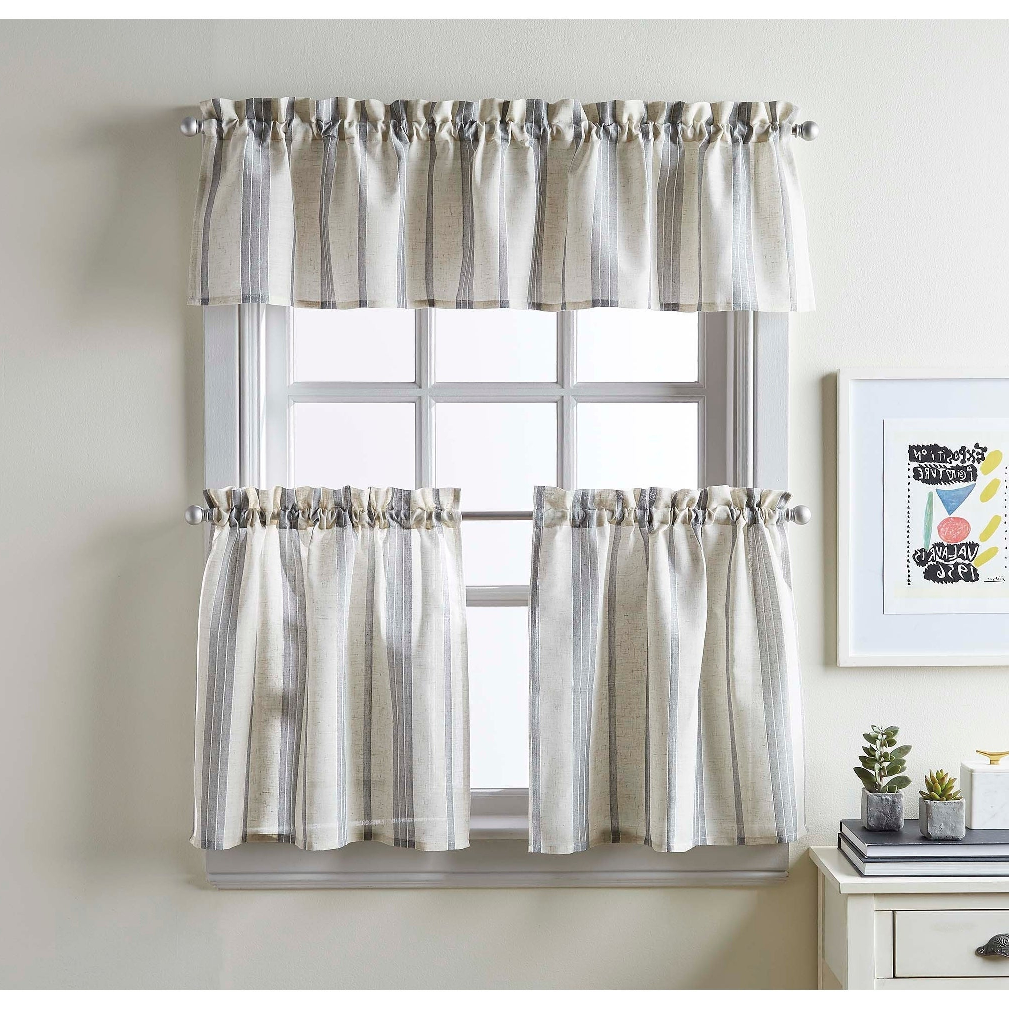 Popular Mckenzie Valance And Tier Pair Curtain Collection Pertaining To Lodge Plaid 3 Piece Kitchen Curtain Tier And Valance Sets (View 10 of 20)