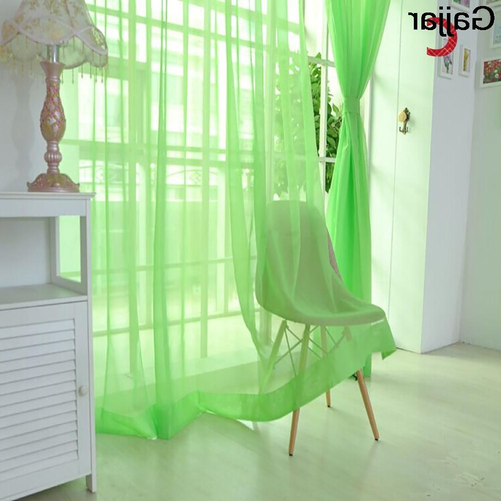 Popular Micro Striped Semi Sheer Window Curtain Pieces Regarding Gajjar Pure Tulle Door Window Curtain Drape Panel Sheer Scarf Valances Micro Transparent Light Weight Gauze Transmission 100x (View 16 of 20)