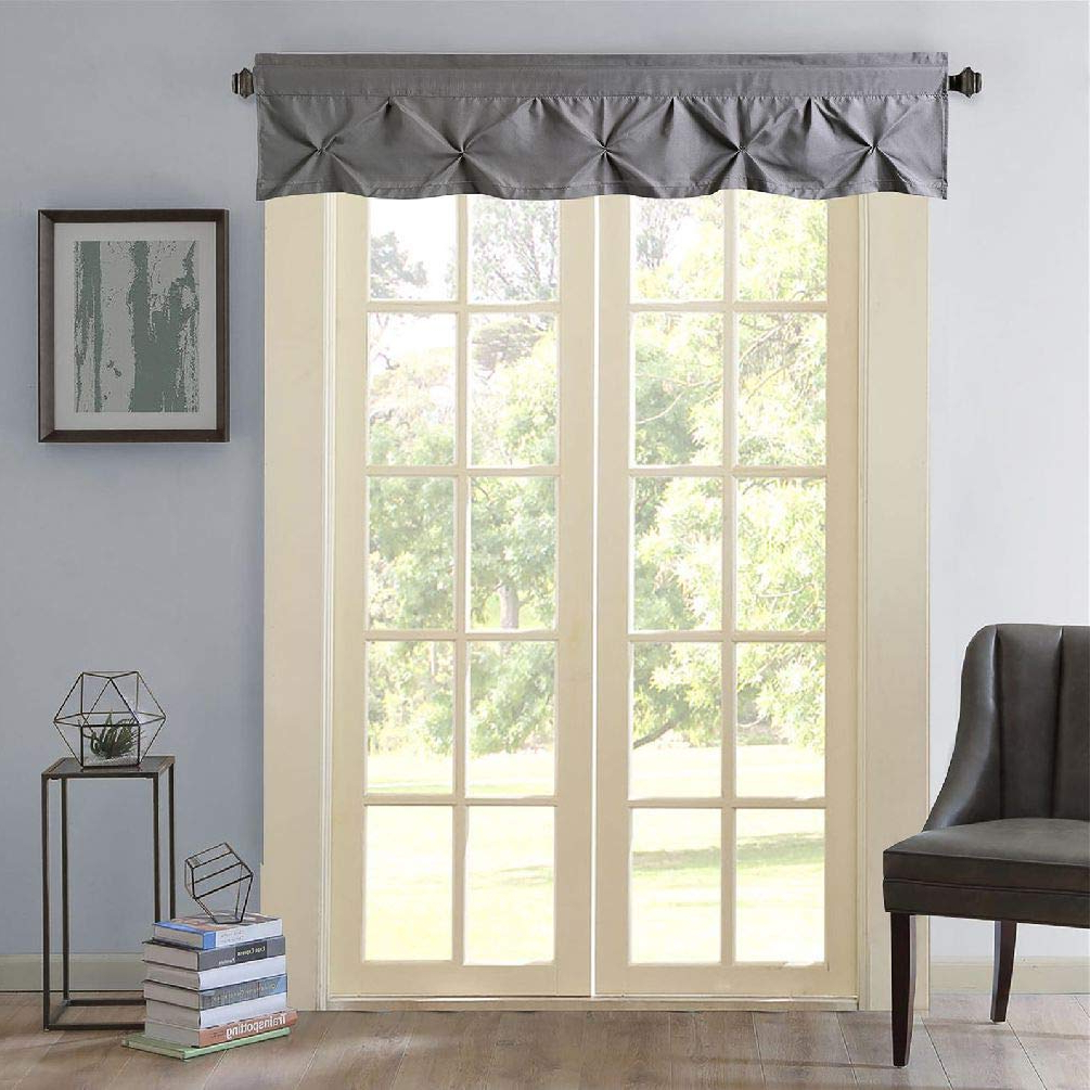 Popular Pintuck Kitchen Window Tiers Throughout Amazon: Carmen Home Pintuck Window Curtain Valance (View 15 of 20)