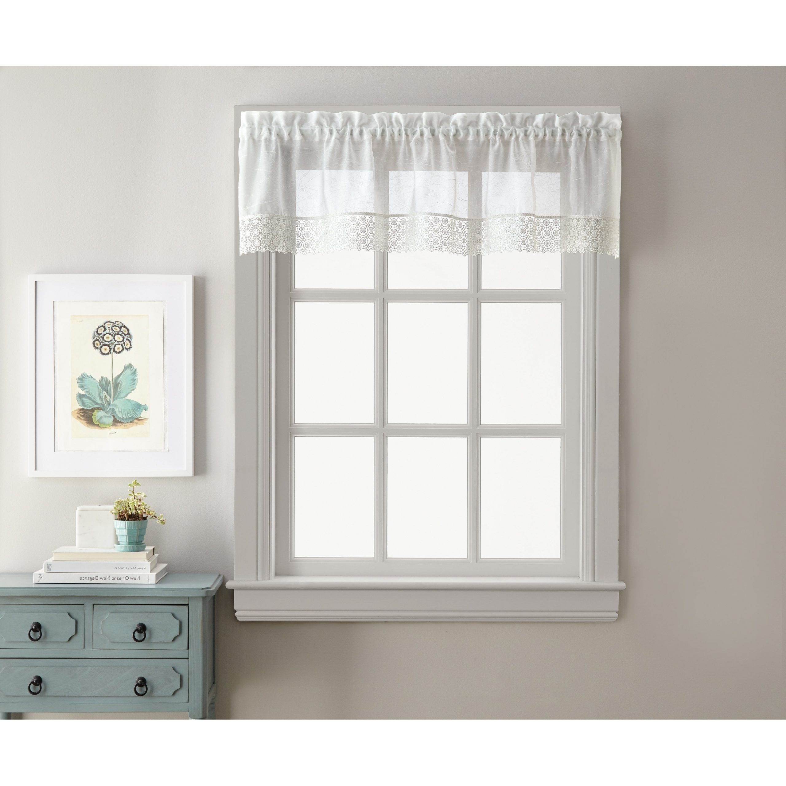 Popular Sweet Adele White Tailored Valance And Tier Pair Curtain Collection Regarding Touch Of Spring 24 Inch Tier Pairs (View 11 of 20)
