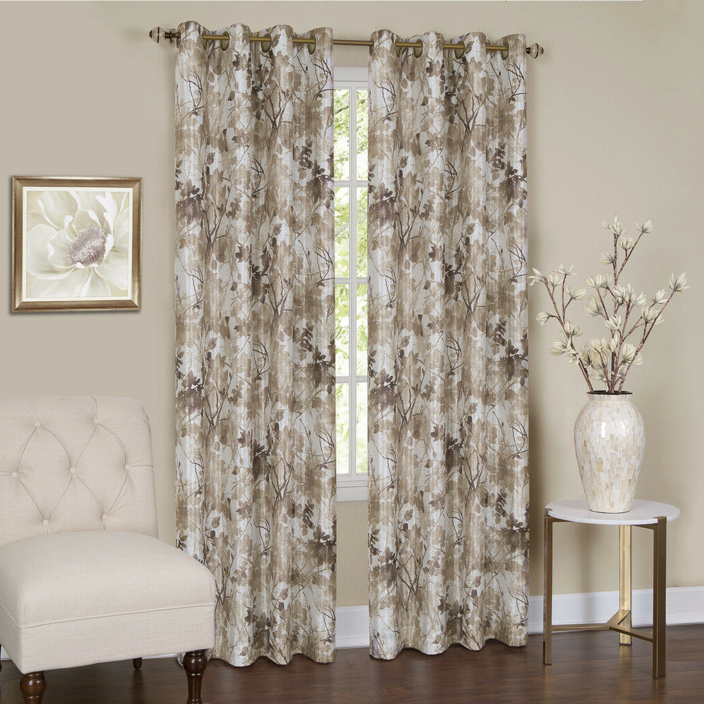 Popular Tranquility Curtain Tier Pairs For Achim Tranquil Lined Grommet Curtain Panel (View 12 of 20)