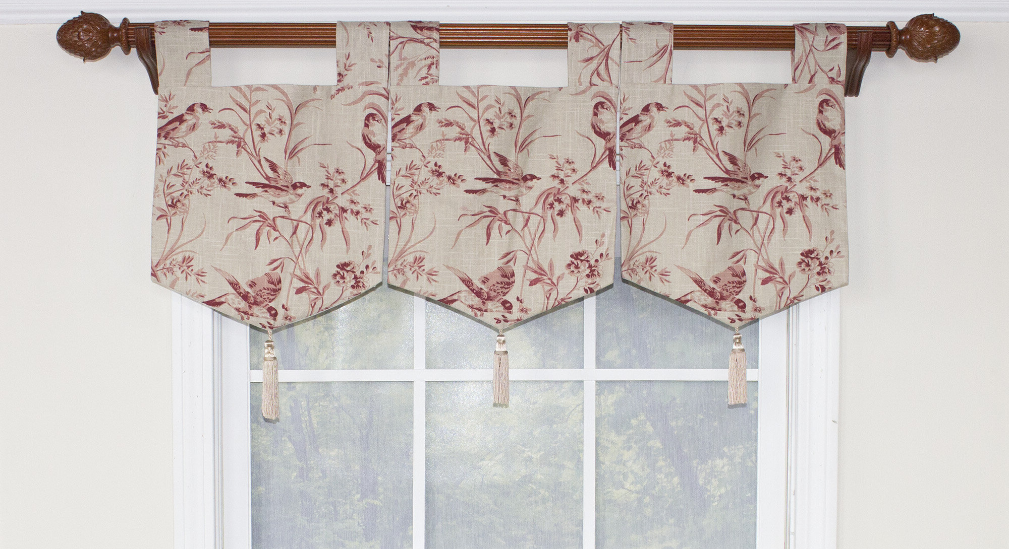 Popular Weist Aviary Toile Banner Curtain Valance Pertaining To Aviary Window Curtains (View 13 of 20)