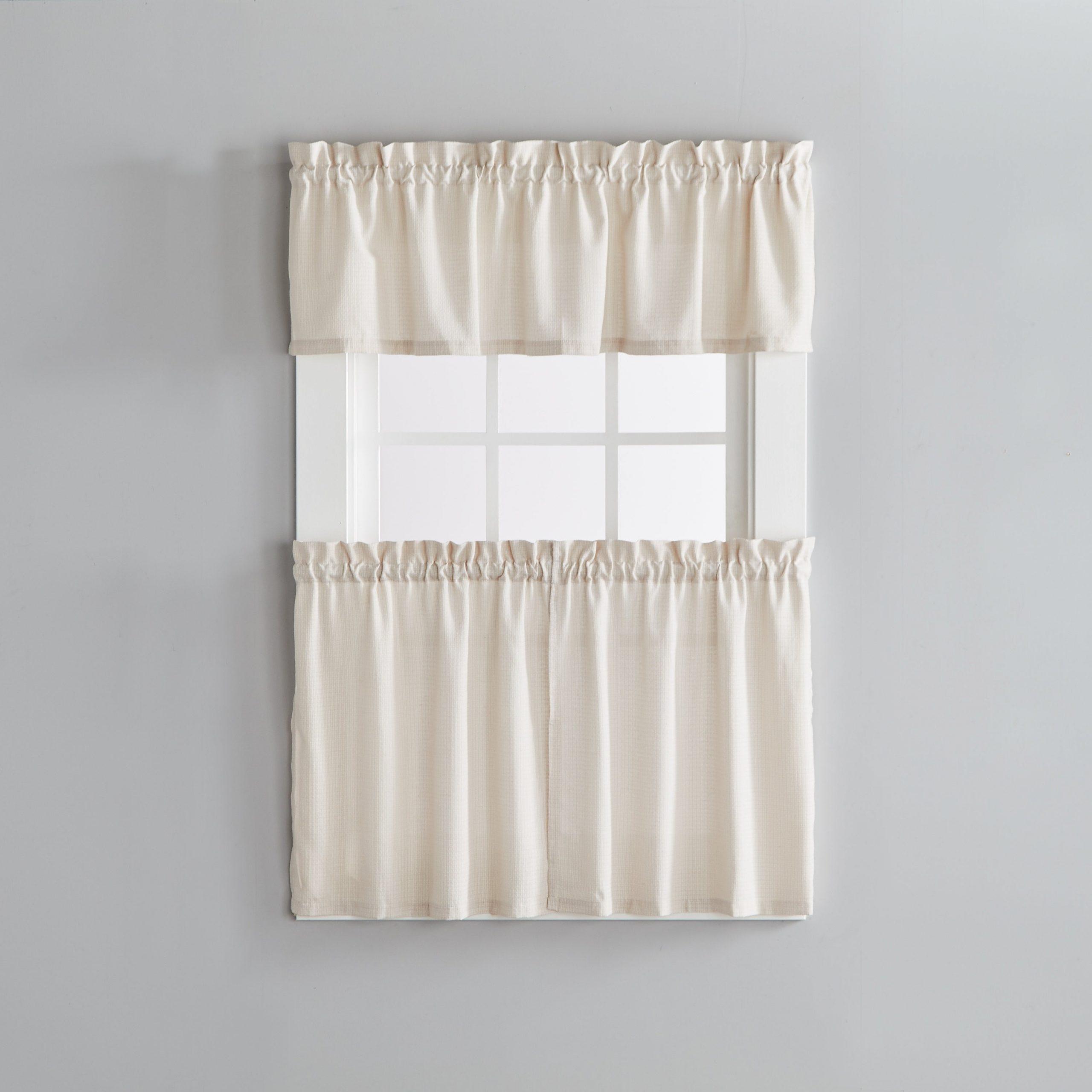 Porch & Den Lorentz Linen 24 Inch Tier Pair Inside 2020 Oakwood Linen Style Decorative Window Curtain Tier Sets (View 14 of 20)