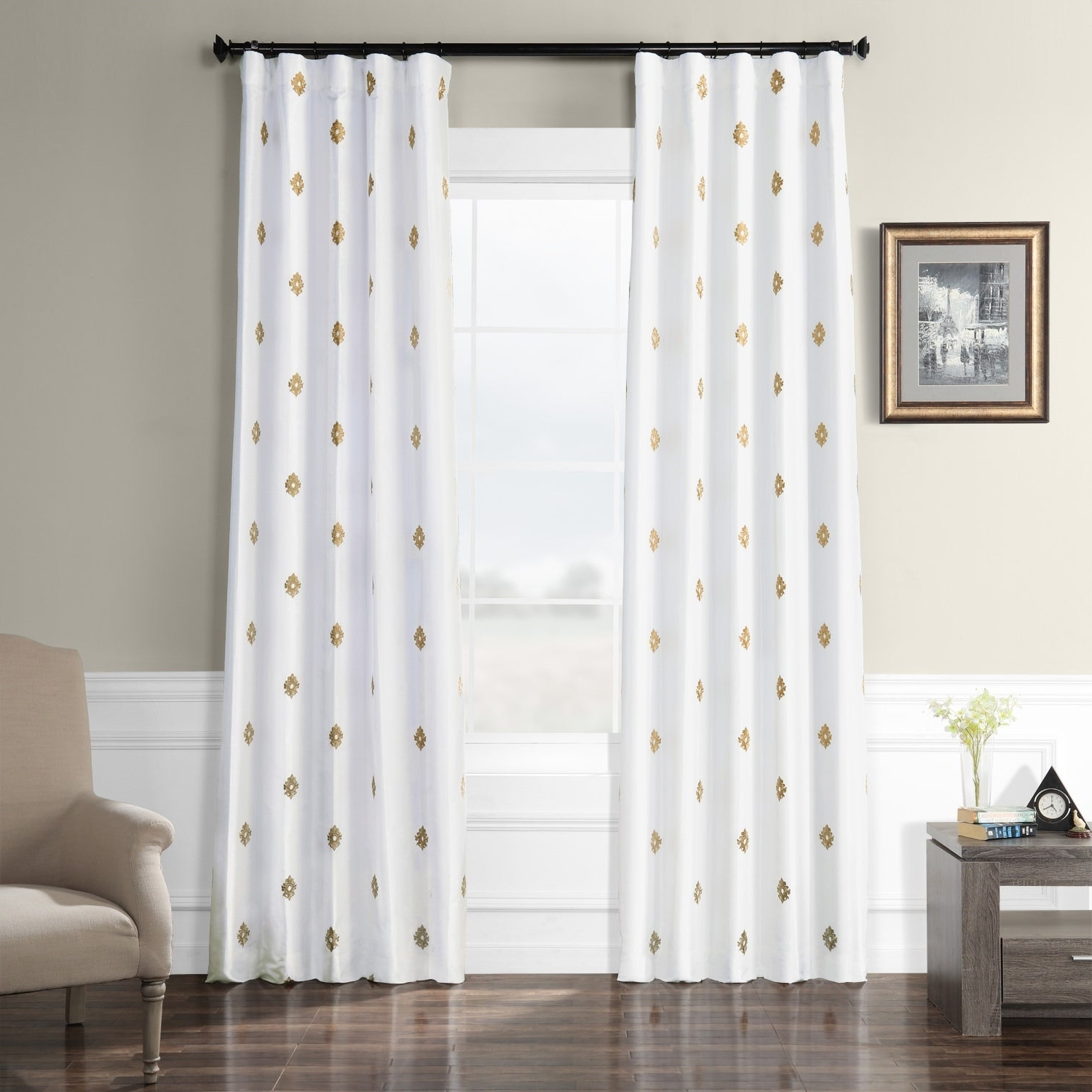 Porch & Den Lorentz Silver 24 Inch Tier Pairs In Most Popular Details About Porch & Den Oberst Embroidered Taffeta Curtain Panel (View 17 of 20)