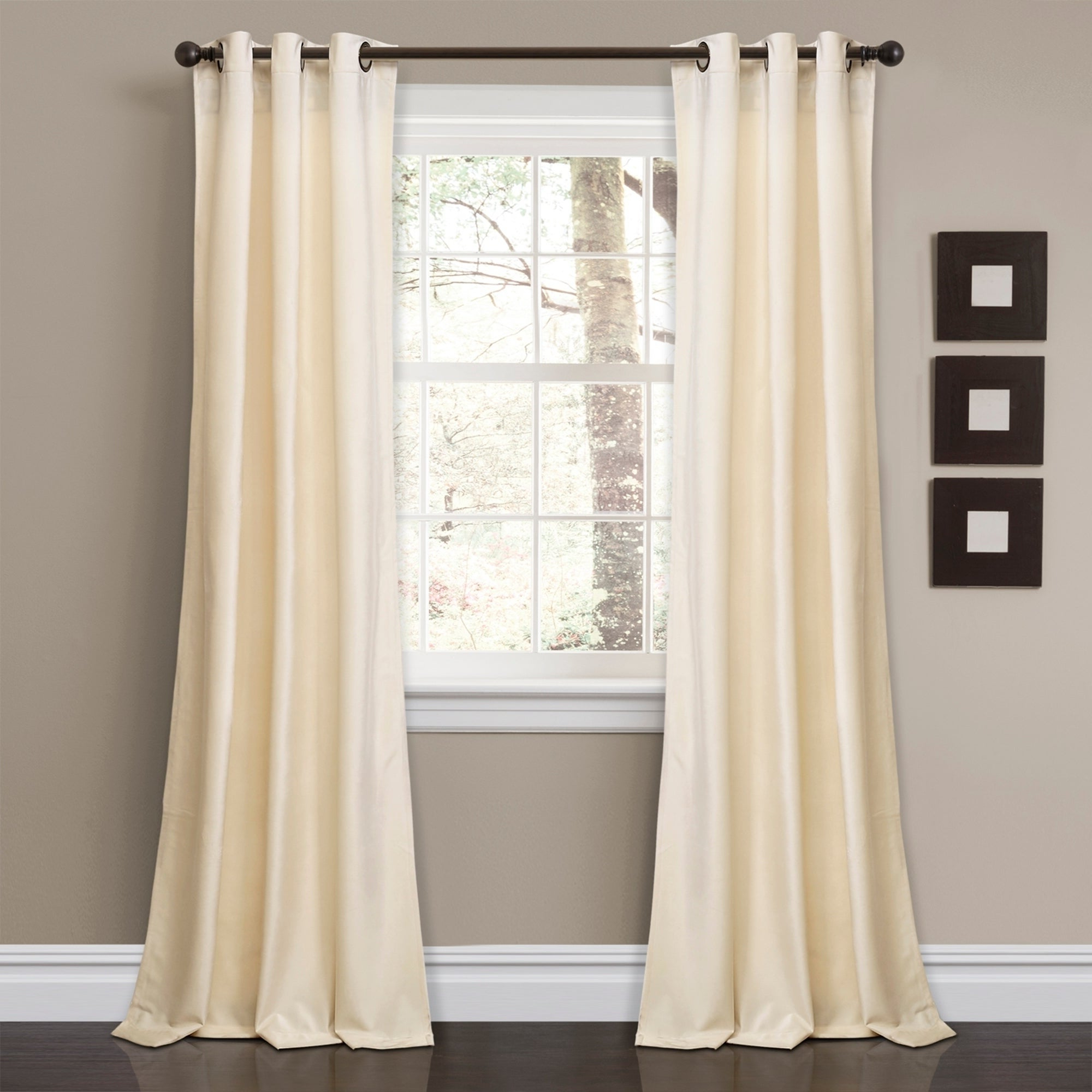 Porch & Den Park Point Blush 24 Inch Tier Pairs For Fashionable Details About Porch & Den Lapeyrous Velvet Solid Room Darkening Window (View 13 of 20)