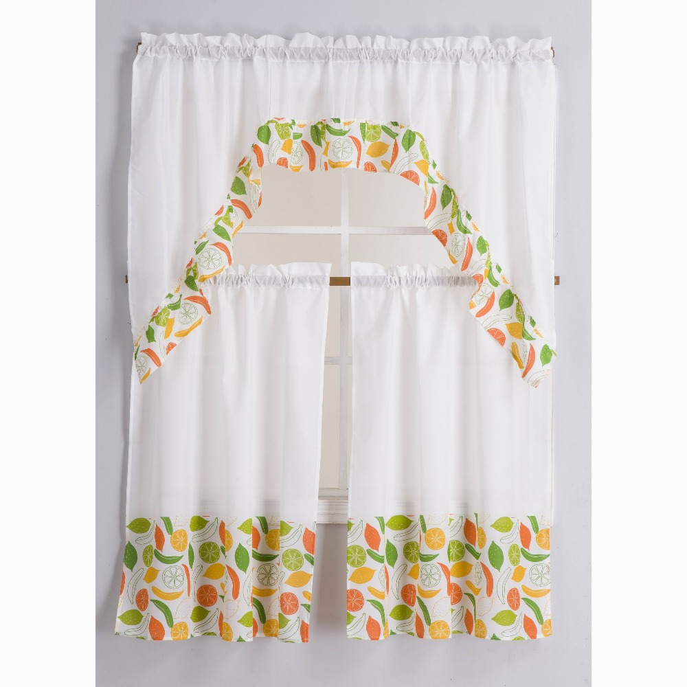 Preferred China Kitchen Curtains Wholesale 🇨🇳 – Alibaba Regarding Geometric Print Microfiber 3 Piece Kitchen Curtain Valance And Tiers Sets (View 15 of 20)