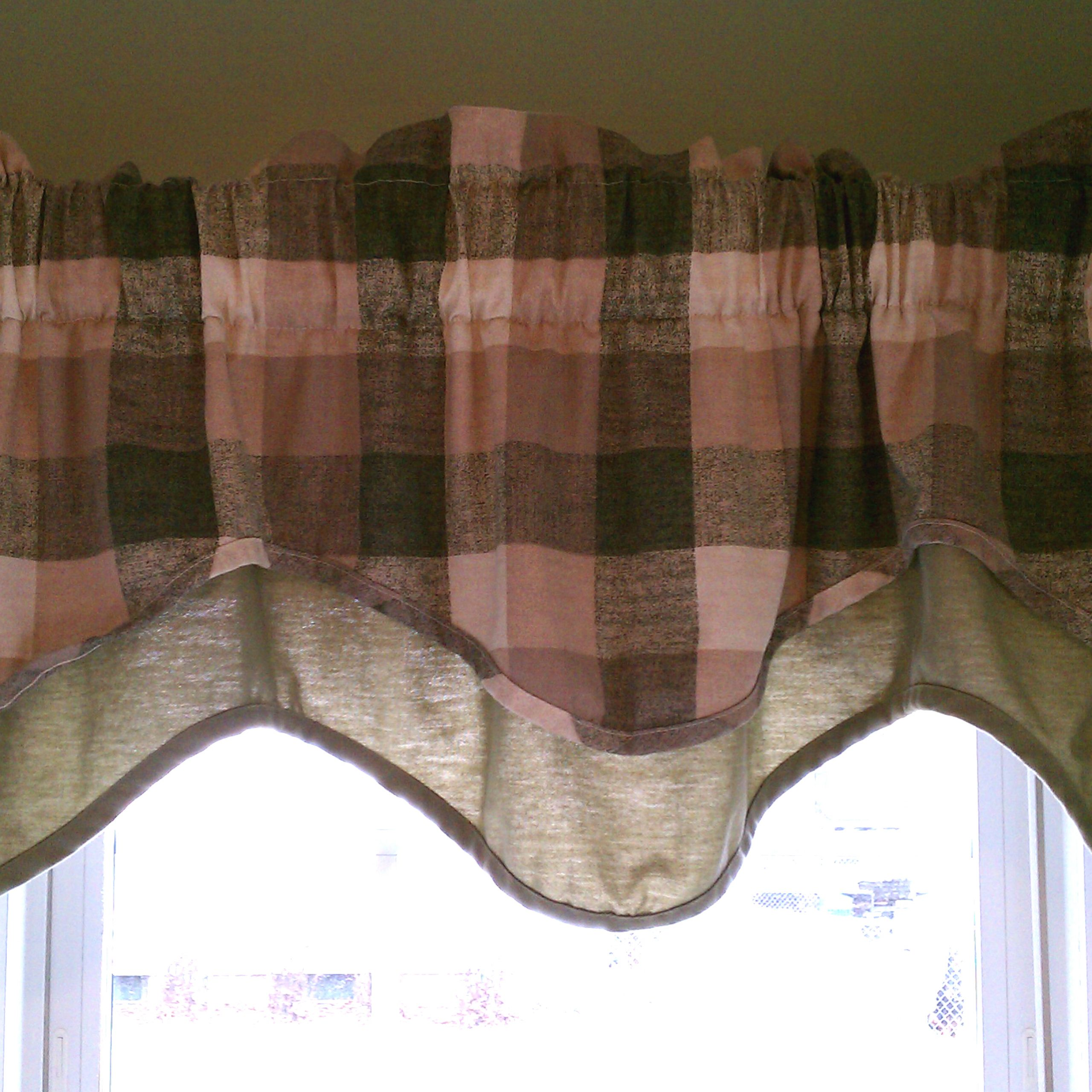 Preferred Cotton Blend Classic Checkered Decorative Window Curtains Inside Window Valance – Wikipedia (View 19 of 20)