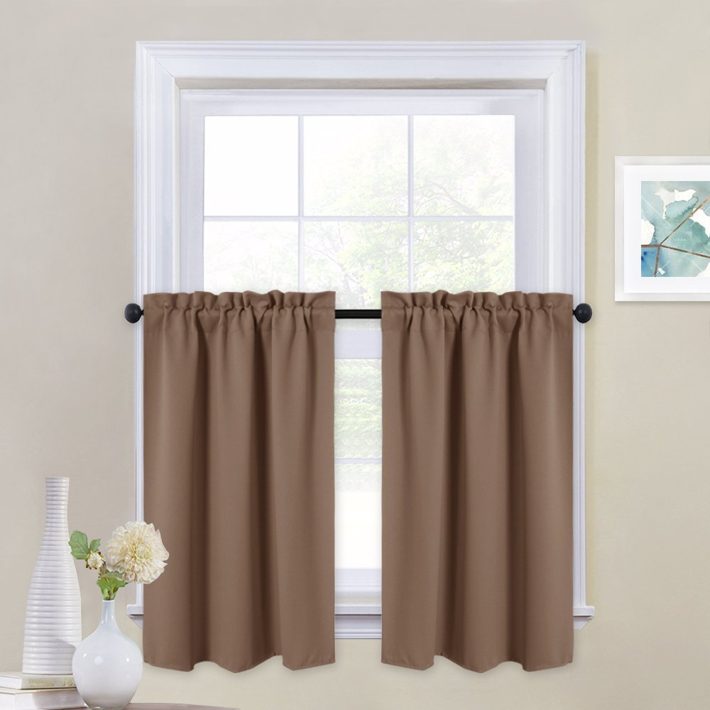 Preferred Nicetown Window Treatment Tier Curtains – Rod Pocket Tailored Valance/cafe Drapes For Small Window (1 Pair, 29 Inches Wide X 36 Inches Long, For Tailored Valance And Tier Curtains (View 14 of 20)