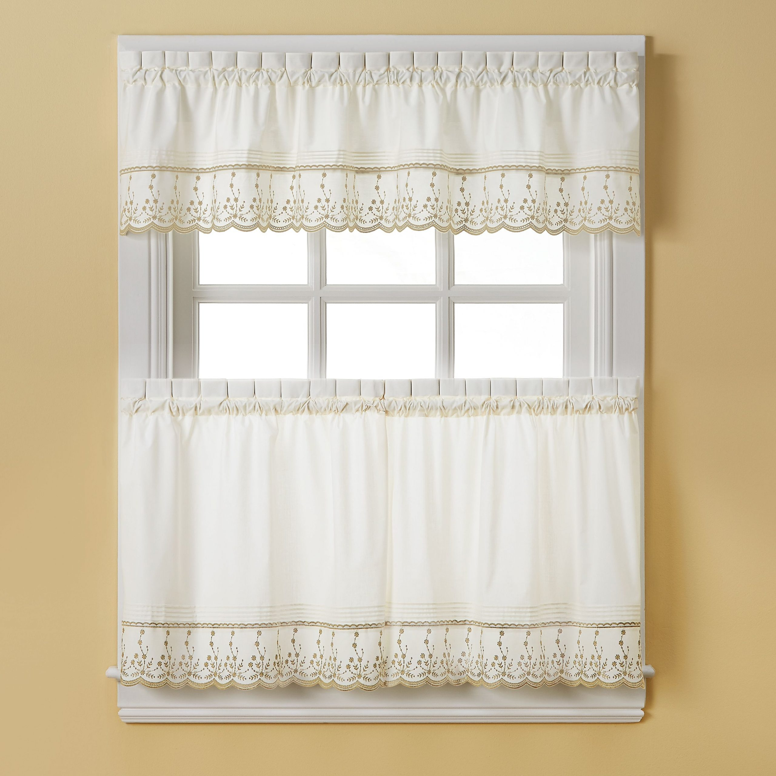 Preferred Pinterest Inside French Vanilla Country Style Curtain Parts With White Daisy Lace Accent (View 10 of 20)