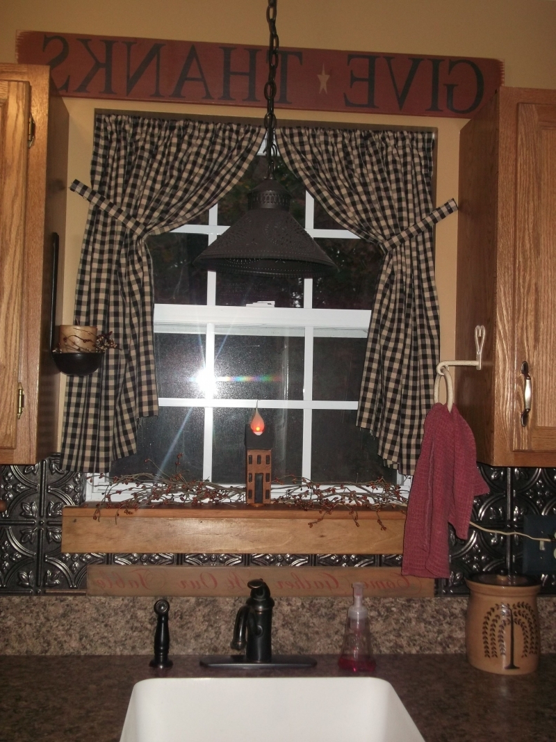 Preferred Primitive Kitchen Curtains Within Beautiful Primitive Kitchen Curtains (View 11 of 20)