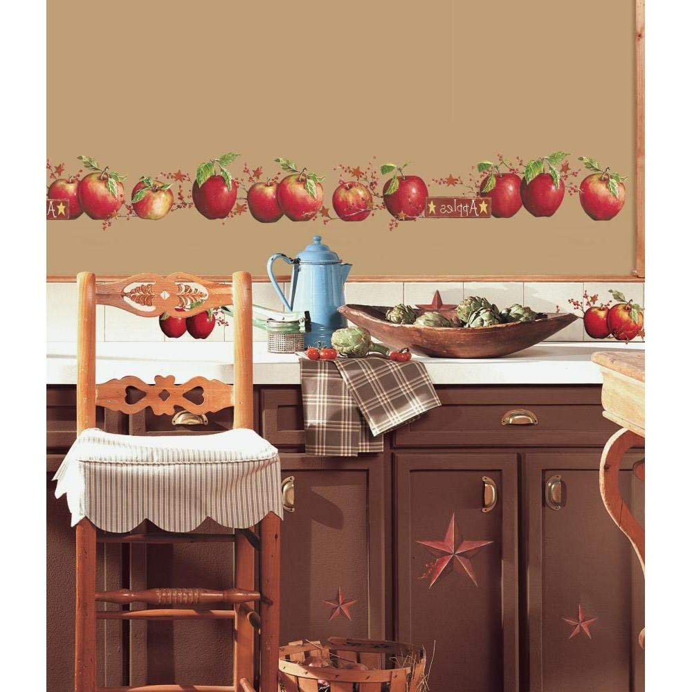 Preferred Roommates Country Apples Peel And Stick Wall Decals – Rmk1570scs Within Apple Orchard Printed Kitchen Tier Sets (View 7 of 20)