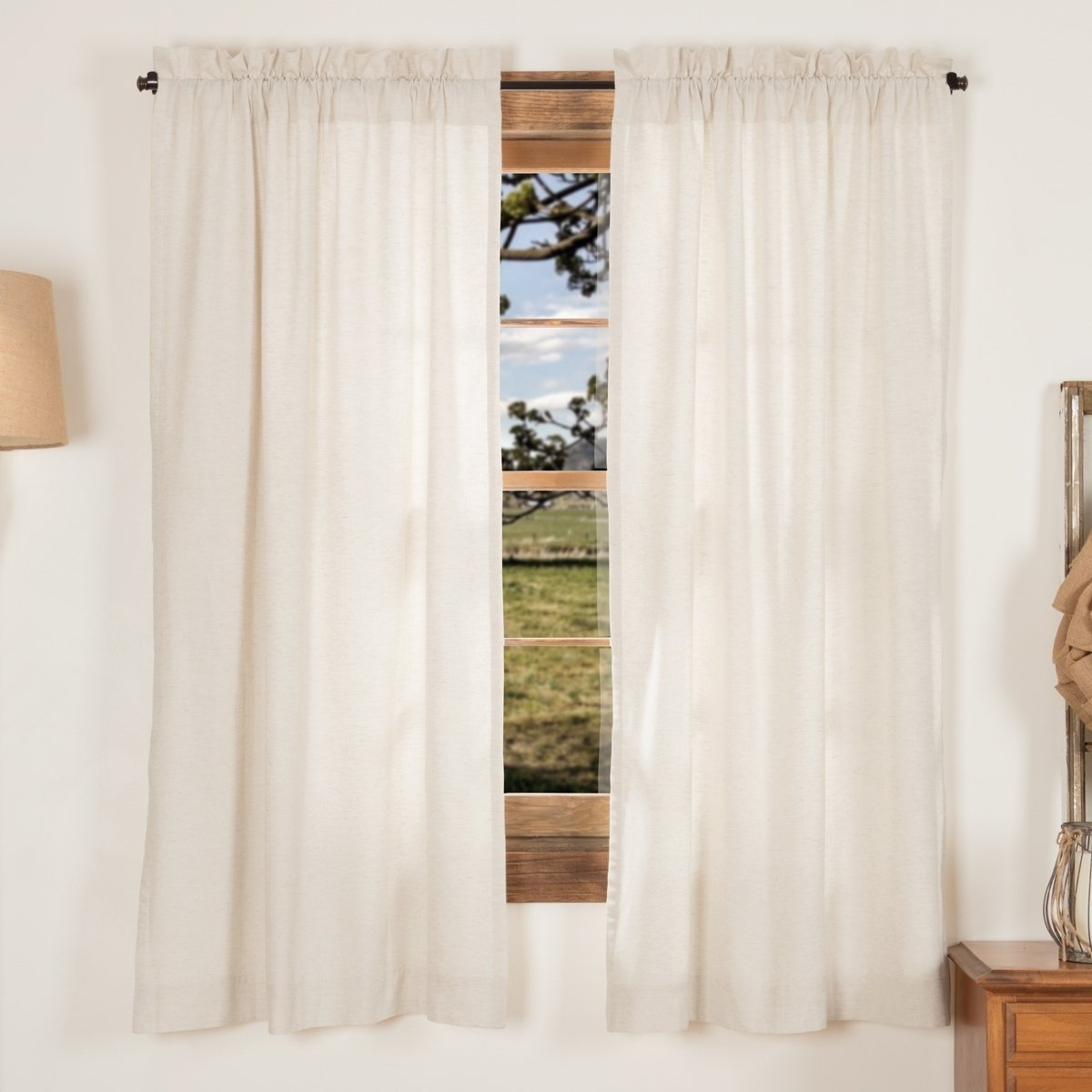 Preferred Simple Life Flax Tier Pairs For Petite Vhc Farmhouse French Country Curtains Simple Life (View 9 of 20)