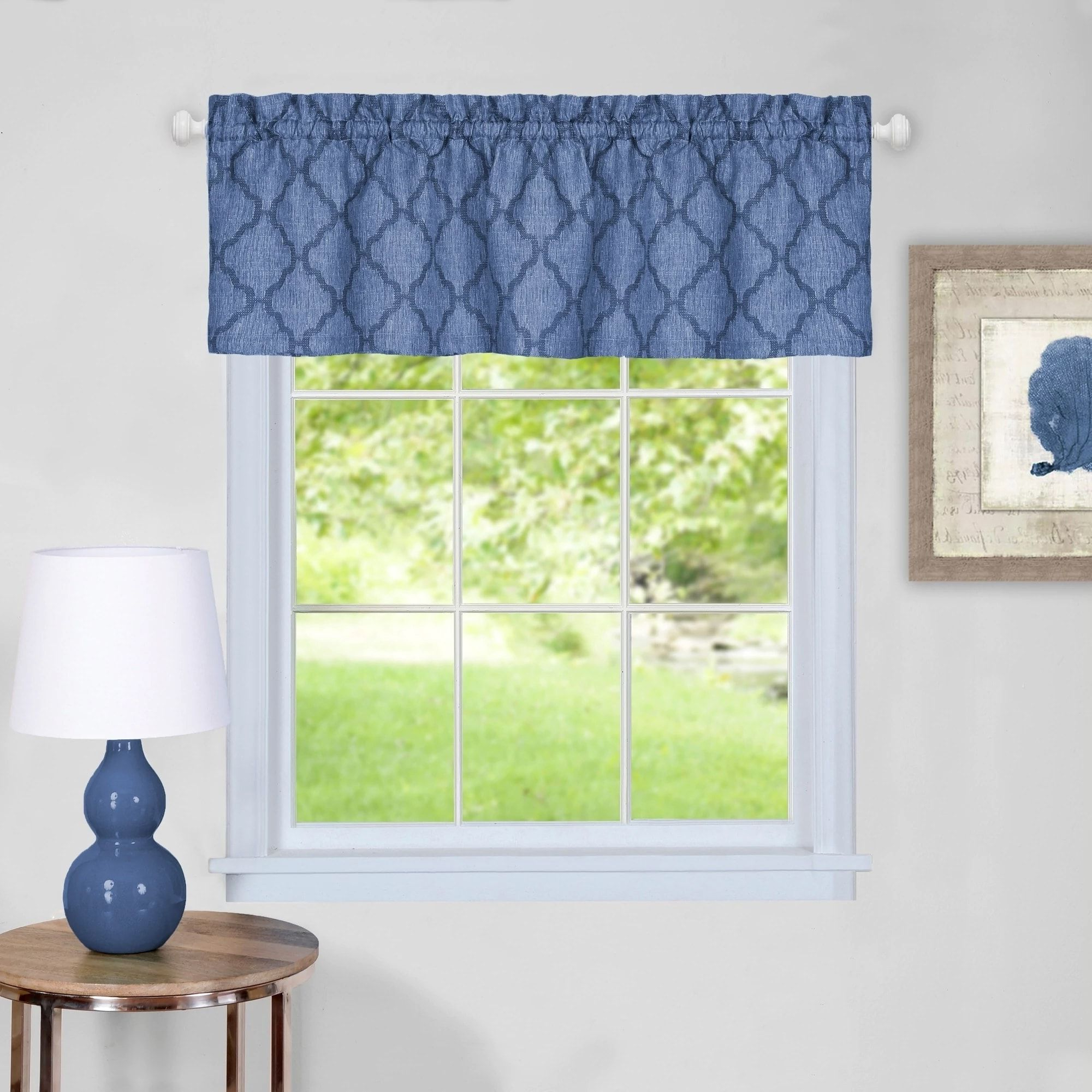 Preferred Trellis Pattern Window Valance (blue), Sweet Home Collection Within Trellis Pattern Window Valances (View 11 of 20)