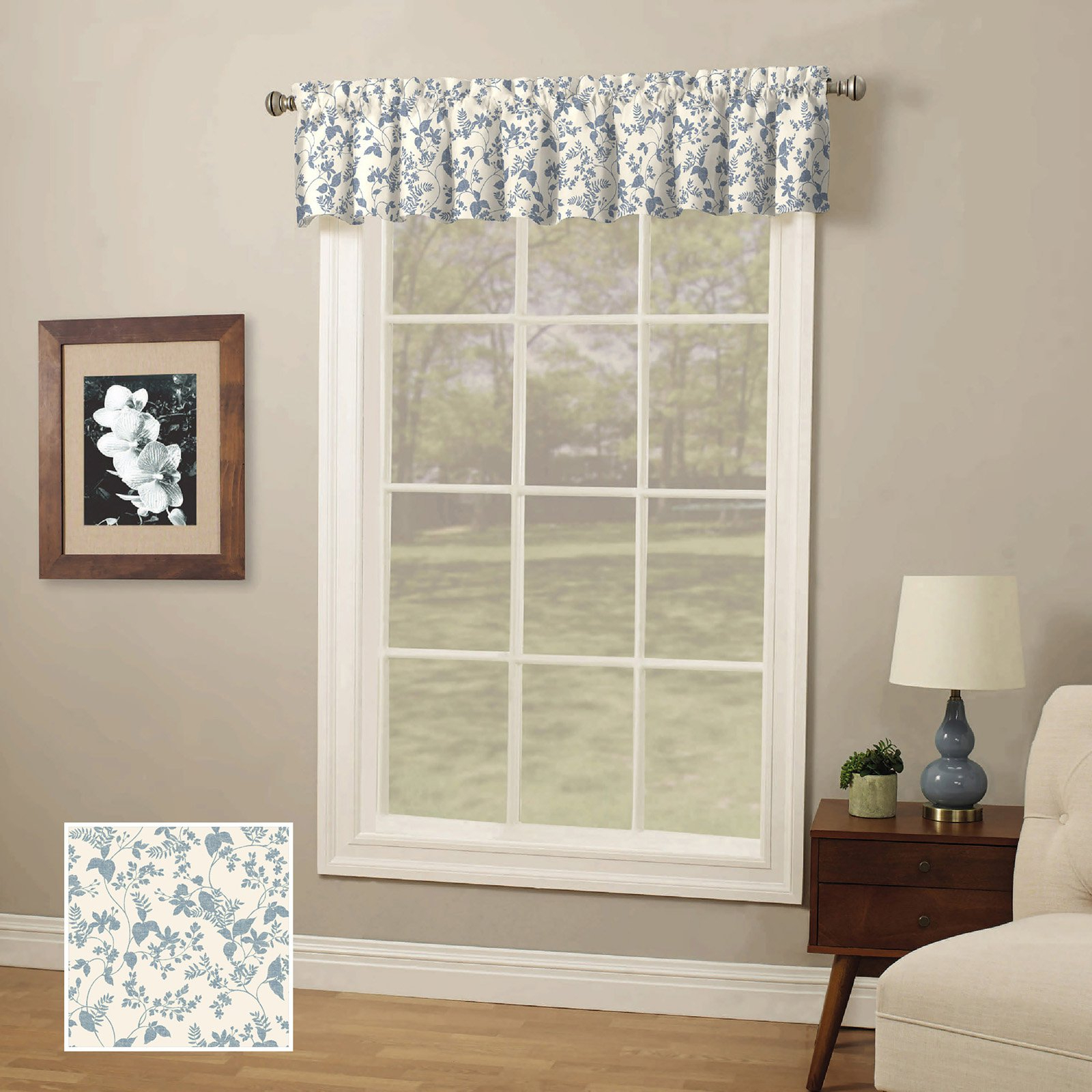 Products In 2019 With Trendy Class Blue Cotton Blend Macrame Trimmed Decorative Window Curtains (View 9 of 17)