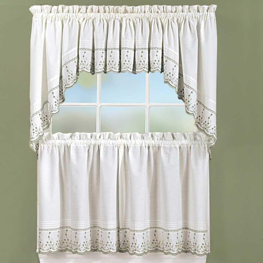 Products Intended For Widely Used Chocolate 5 Piece Curtain Tier And Swag Sets (View 18 of 20)