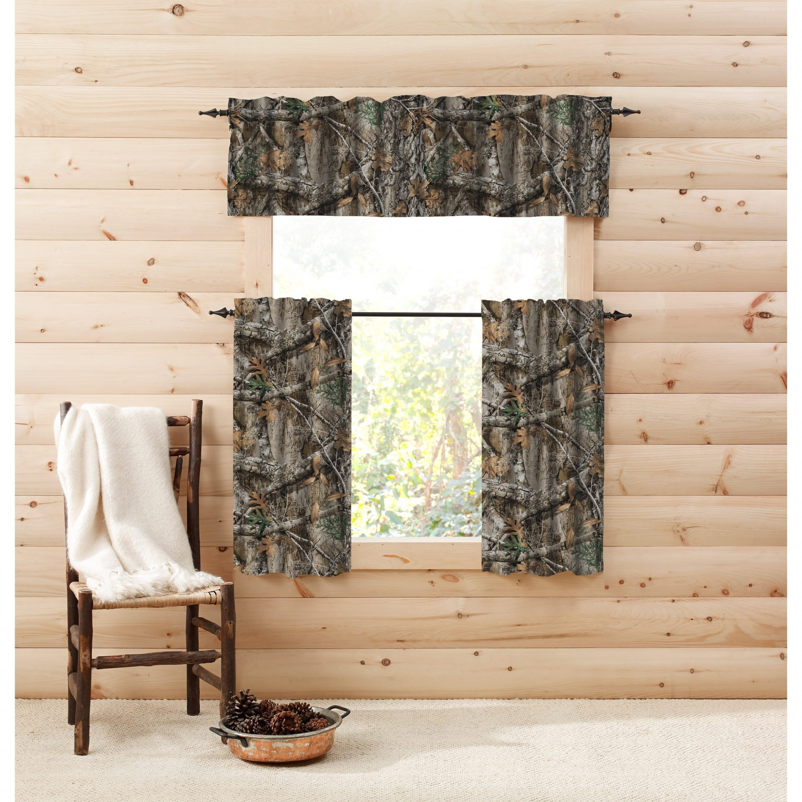 Realtree Edge Window Tier Pair – Tier Pair With Regard To Well Known Forest Valance And Tier Pair Curtains (View 17 of 20)