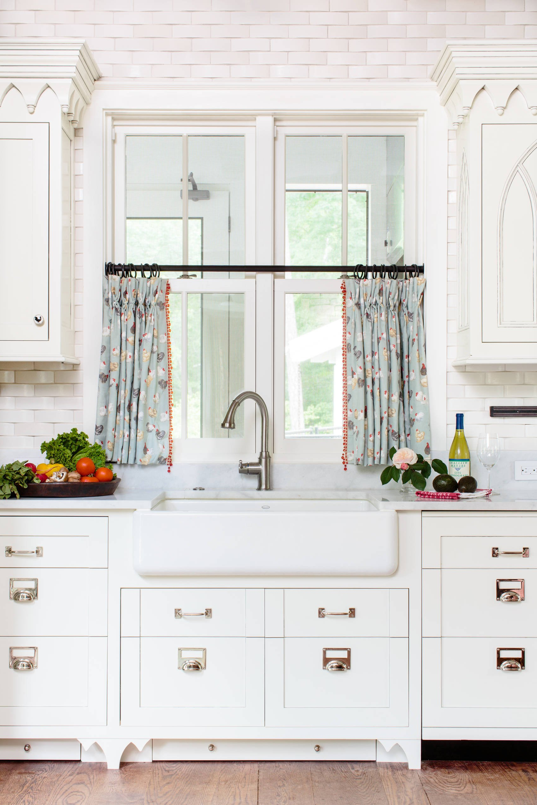 Recent 10 Best Patterns For Kitchen Curtains Cheap Farmhouse Sink Ikea Throughout Farmhouse Kitchen Curtains (View 17 of 20)