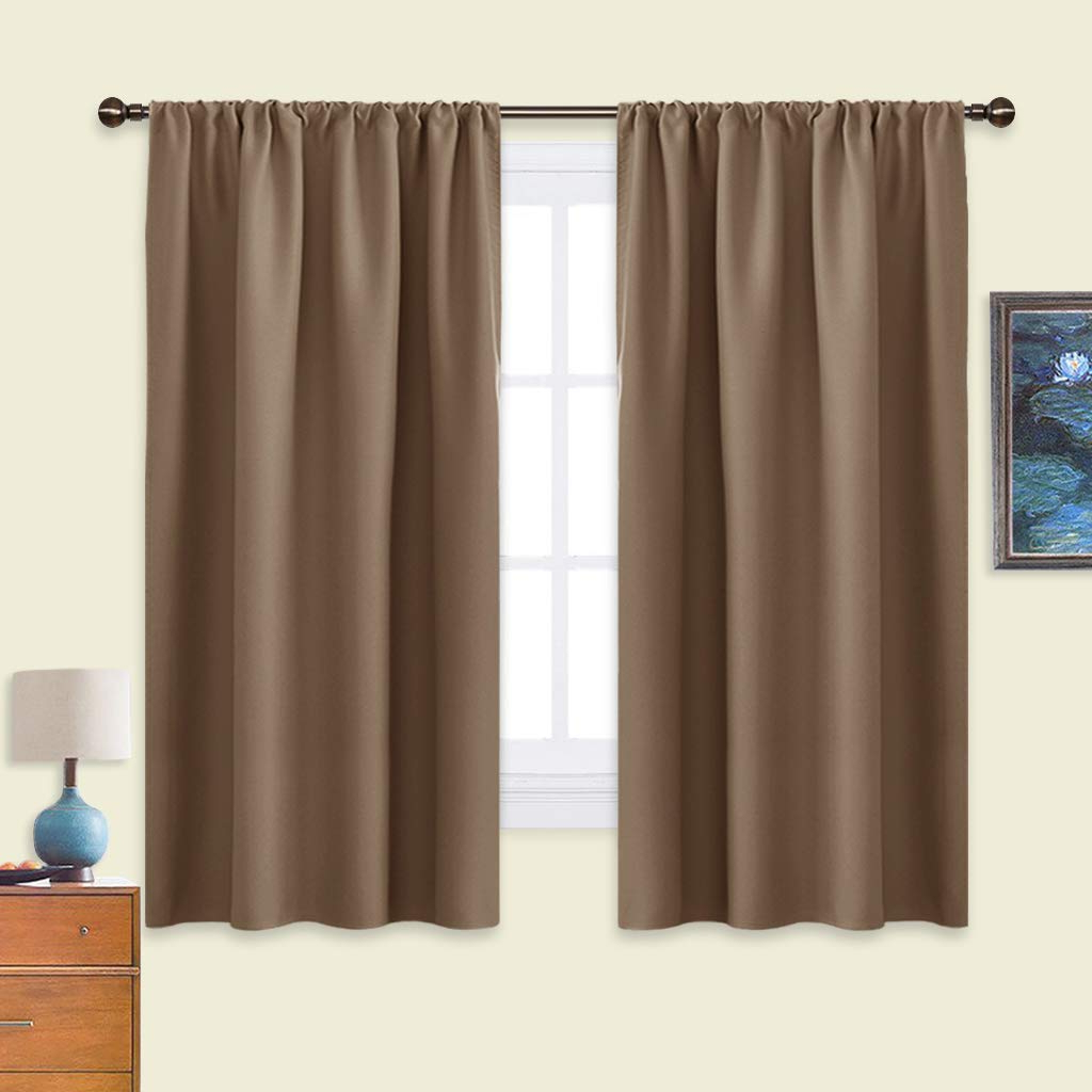 Recent Amazon: Nicetown Kids Blackout Curtain Panels – Window For Modern Subtle Texture Solid Red Kitchen Curtains (Gallery 10 of 20)