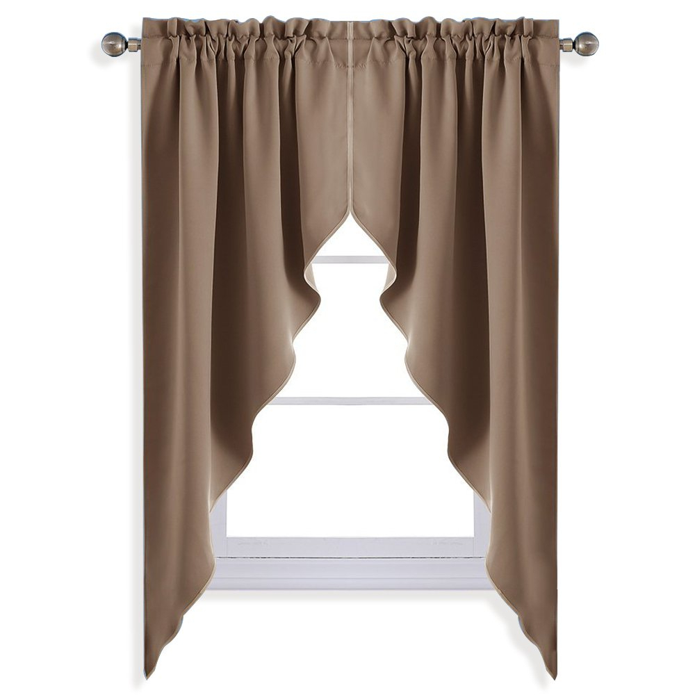 Recent Details About Nicetown Blackout Rod Pocket Kitchen Tier Curtains  Tailored  Scalloped Valance Pertaining To Rod Pocket Kitchen Tiers (Gallery 6 of 20)
