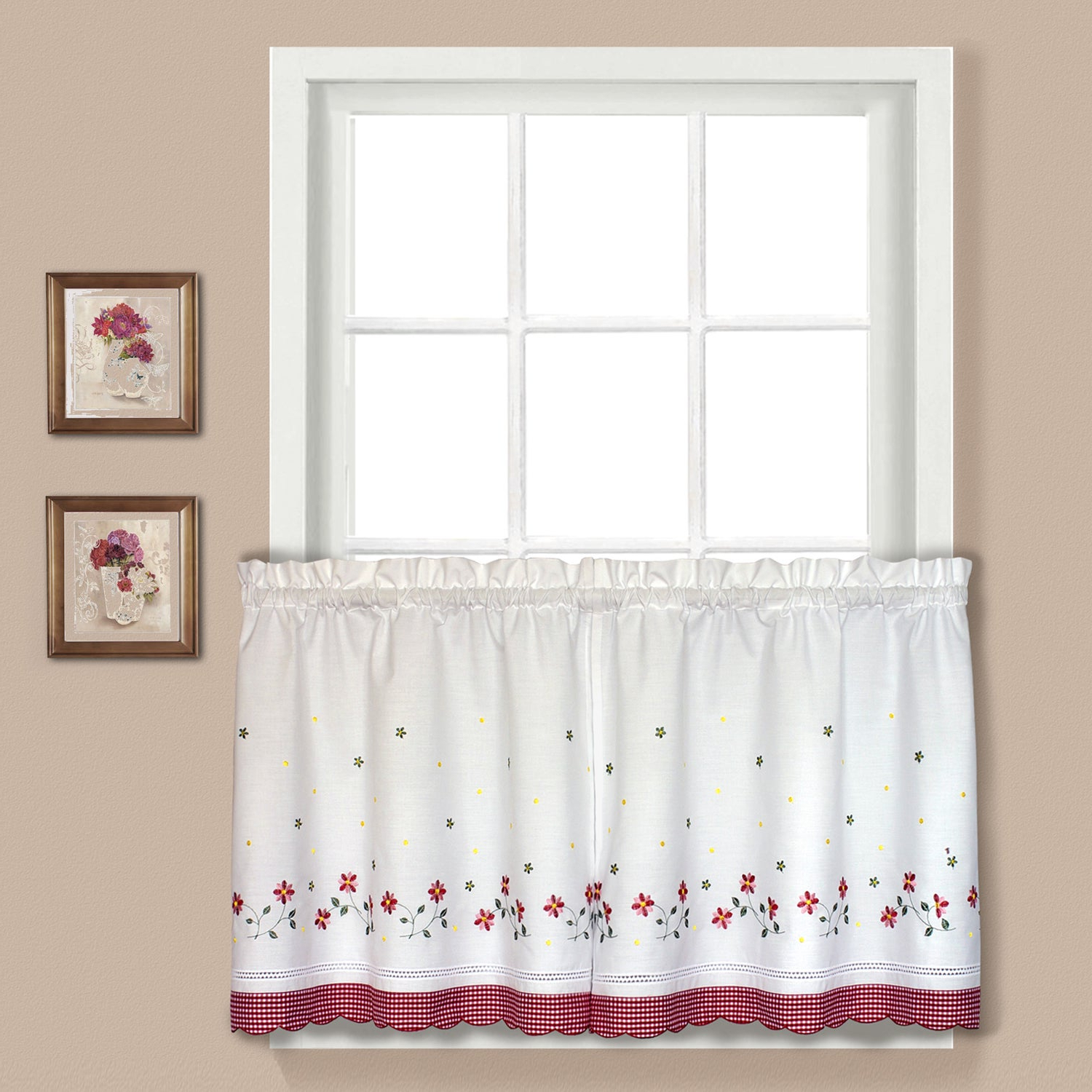 Recent Luxury Collection Gingham Light Filtering Straight Valance In Luxury Light Filtering Straight Curtain Valances (View 3 of 20)