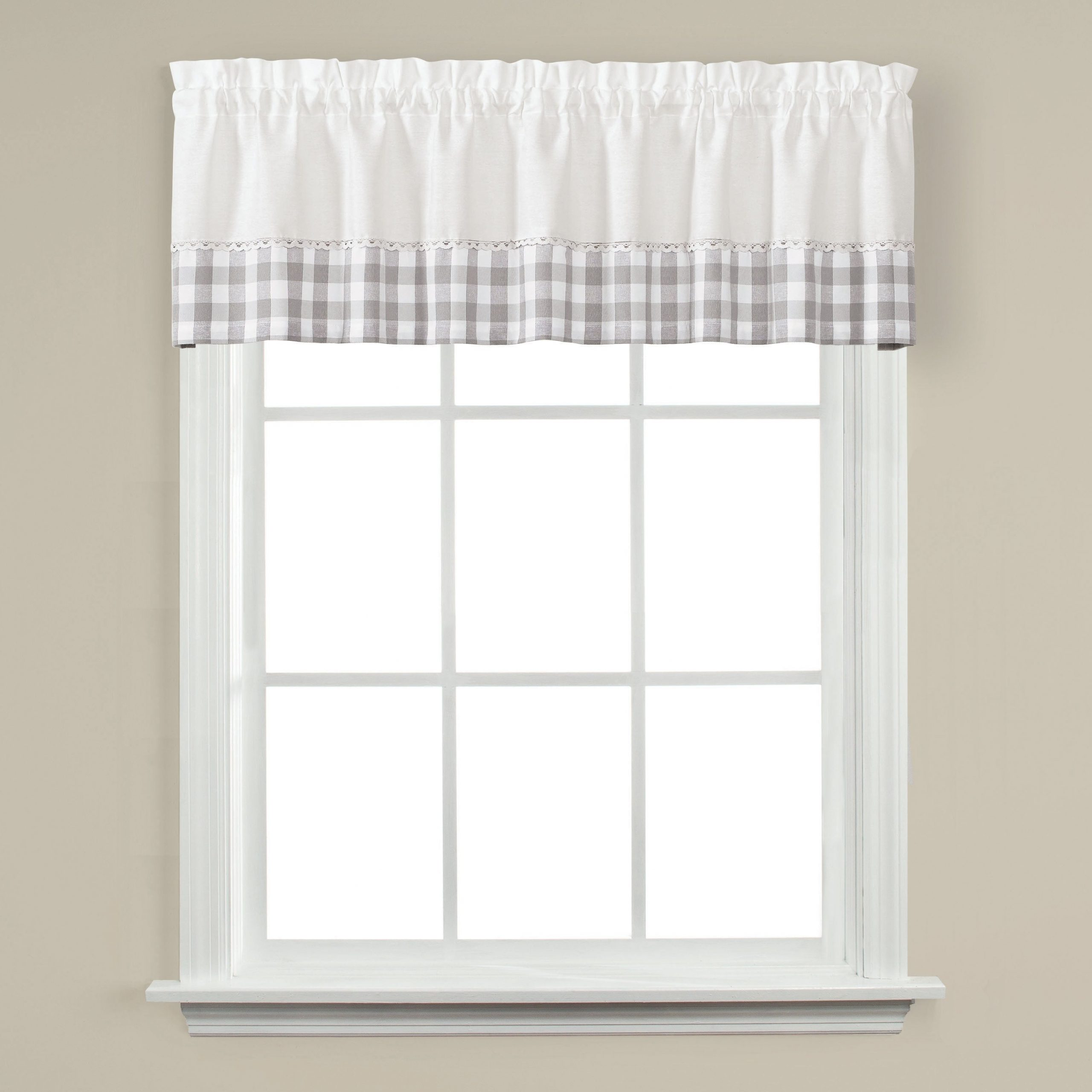 Recent Skl Home Cumberland 13 Inch Valance In Dove Gray In Cumberland Tier Pairs In Dove Gray (View 2 of 20)