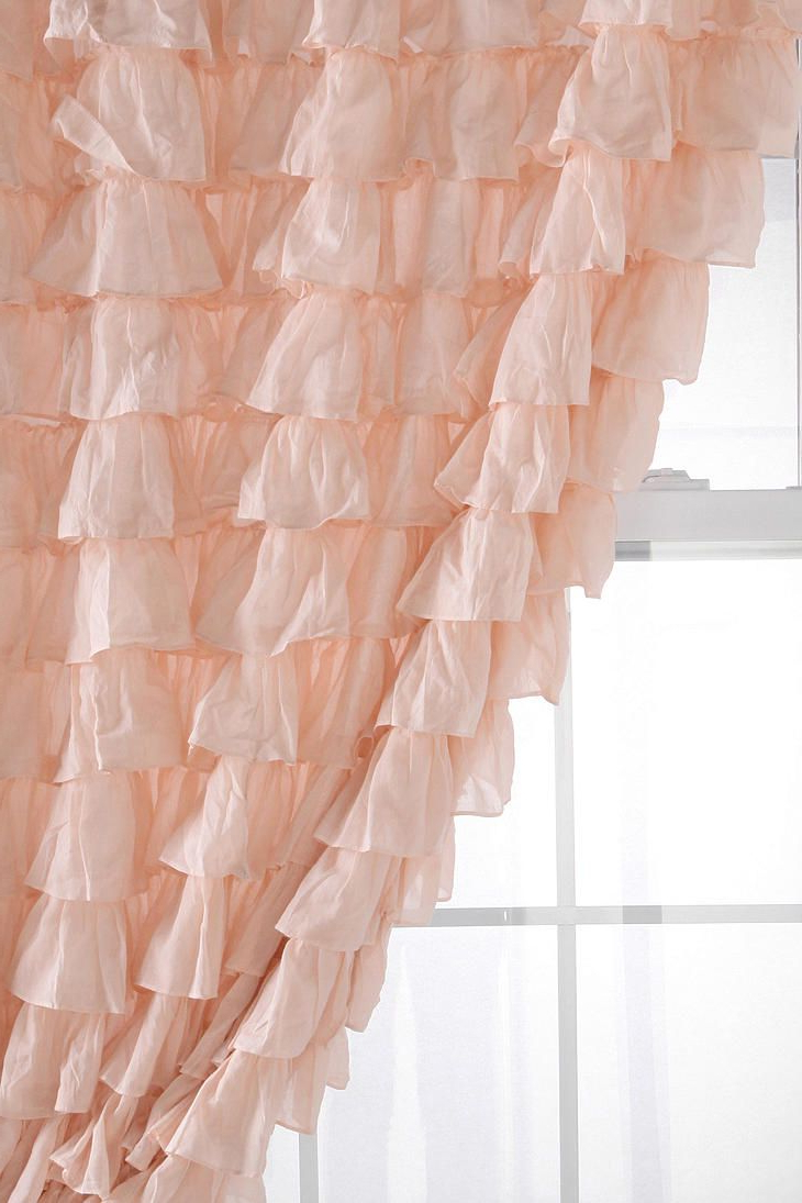 Recent Vertical Ruffled Waterfall Valances And Curtain Tiers Inside Waterfall Ruffle Curtain (View 18 of 20)