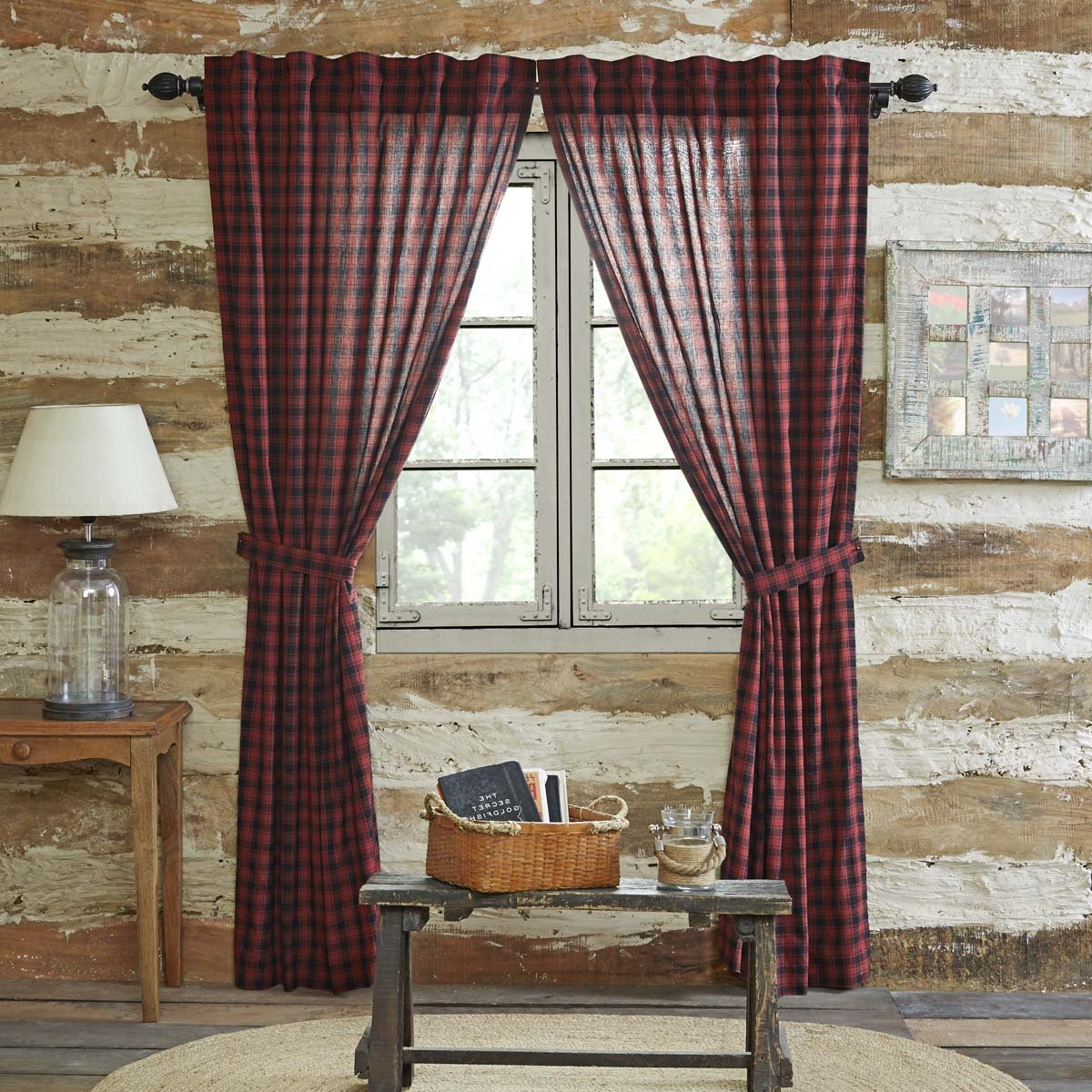 Recent Vhc Brands Rustic & Lodge Window Cumberland Red Curtain Panel Pair, Chili Pepper In Cumberland Tier Pair Rod Pocket Cotton Buffalo Check Kitchen Curtains (View 5 of 20)