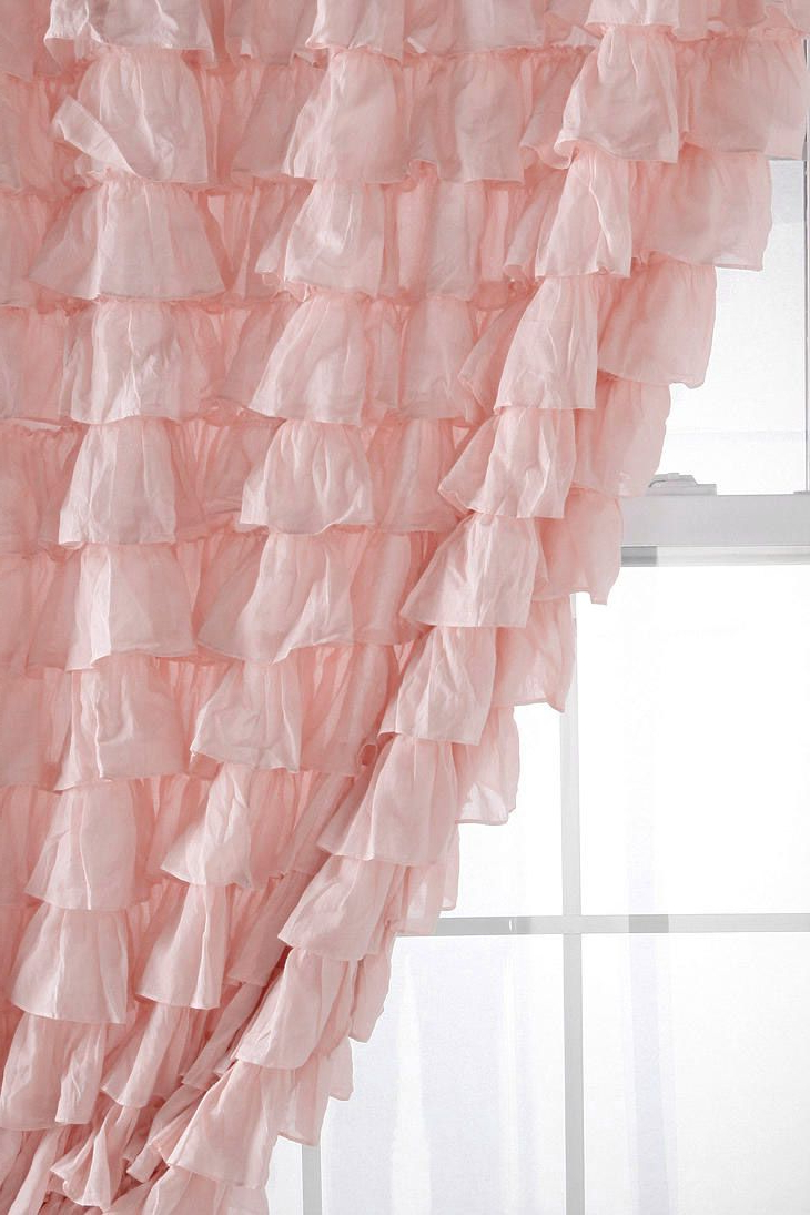 Ruffle With Regard To Vertical Ruffled Waterfall Valance And Curtain Tiers (View 19 of 20)