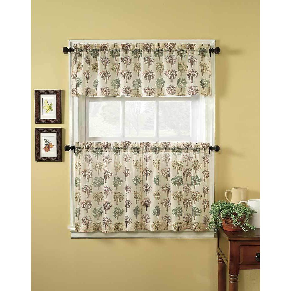 Scroll Leaf 3 Piece Curtain Tier And Valance Sets With Regard To Latest Orchard 3 Piece Tier Curtain And Valance Set (View 17 of 20)