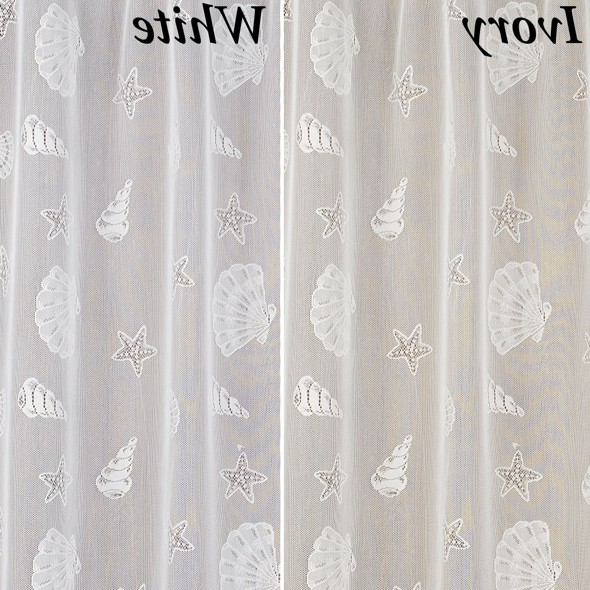 Seashells Lace Shower Curtain (View 16 of 20)