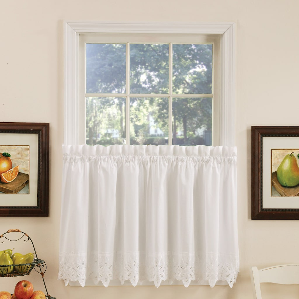 Semi Sheer Rod Pocket Kitchen Curtain Valance And Tiers Sets For Fashionable Vcny Jenna Kitchen Tier Window Curtain Set (View 11 of 20)