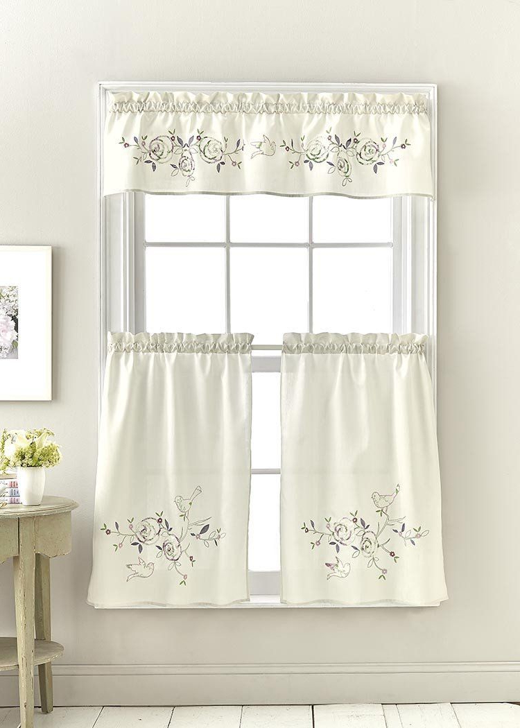 Semi Sheer Rod Pocket Kitchen Curtain Valance And Tiers Sets Intended For Popular Welcome To Marburn (View 12 of 20)