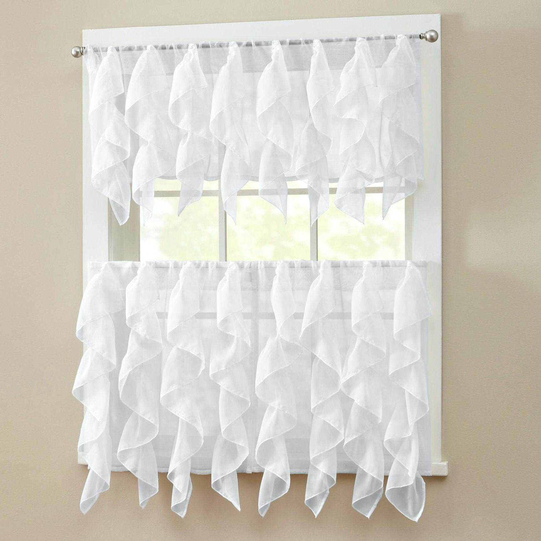 Sheer Tier Curtains – Conor425 Intended For Current Ivory Micro Striped Semi Sheer Window Curtain Pieces (View 16 of 20)
