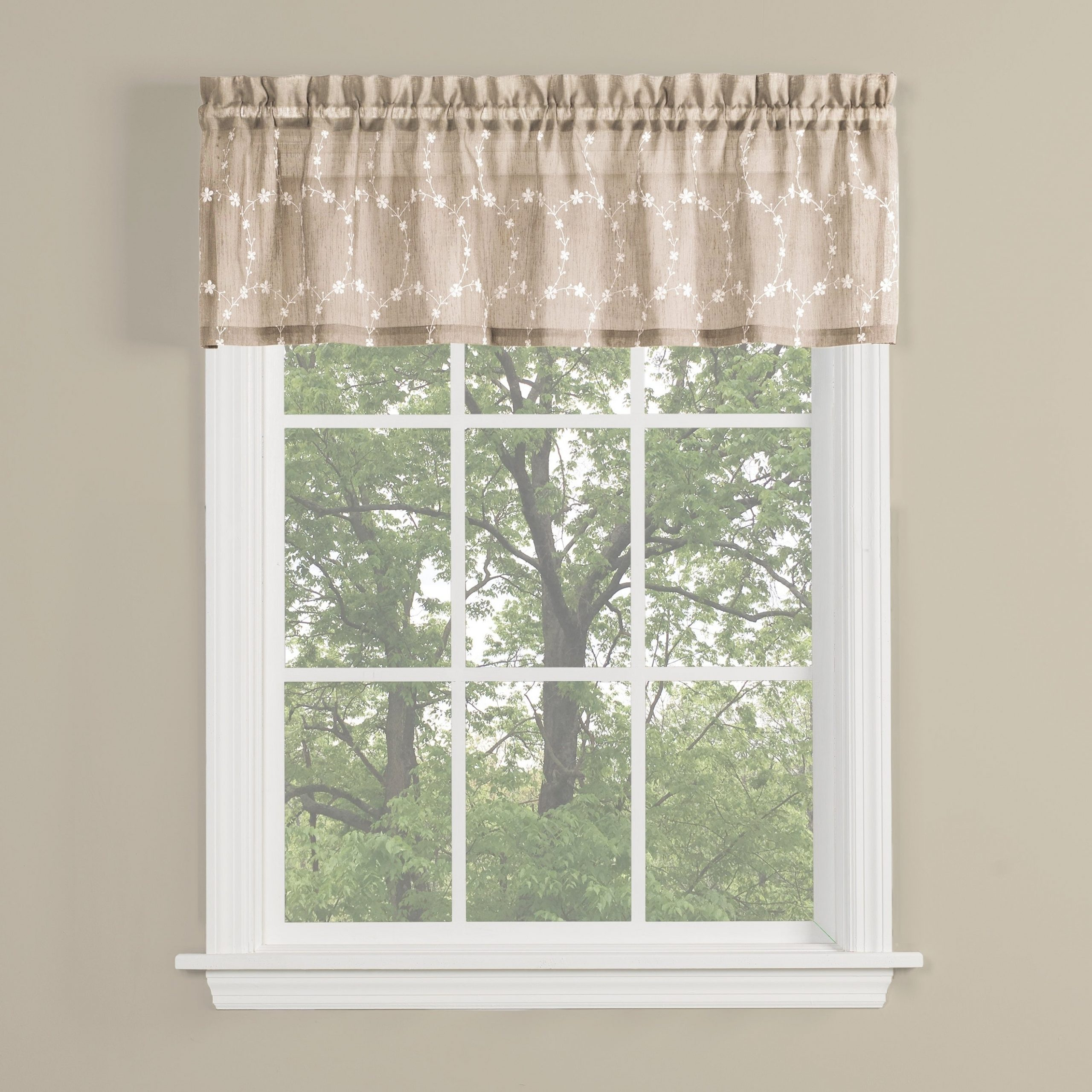 Skl Home Briarwood 13 Inch Valance In Wheat Pertaining To Latest Dexter 24 Inch Tier Pairs In Green (View 10 of 20)