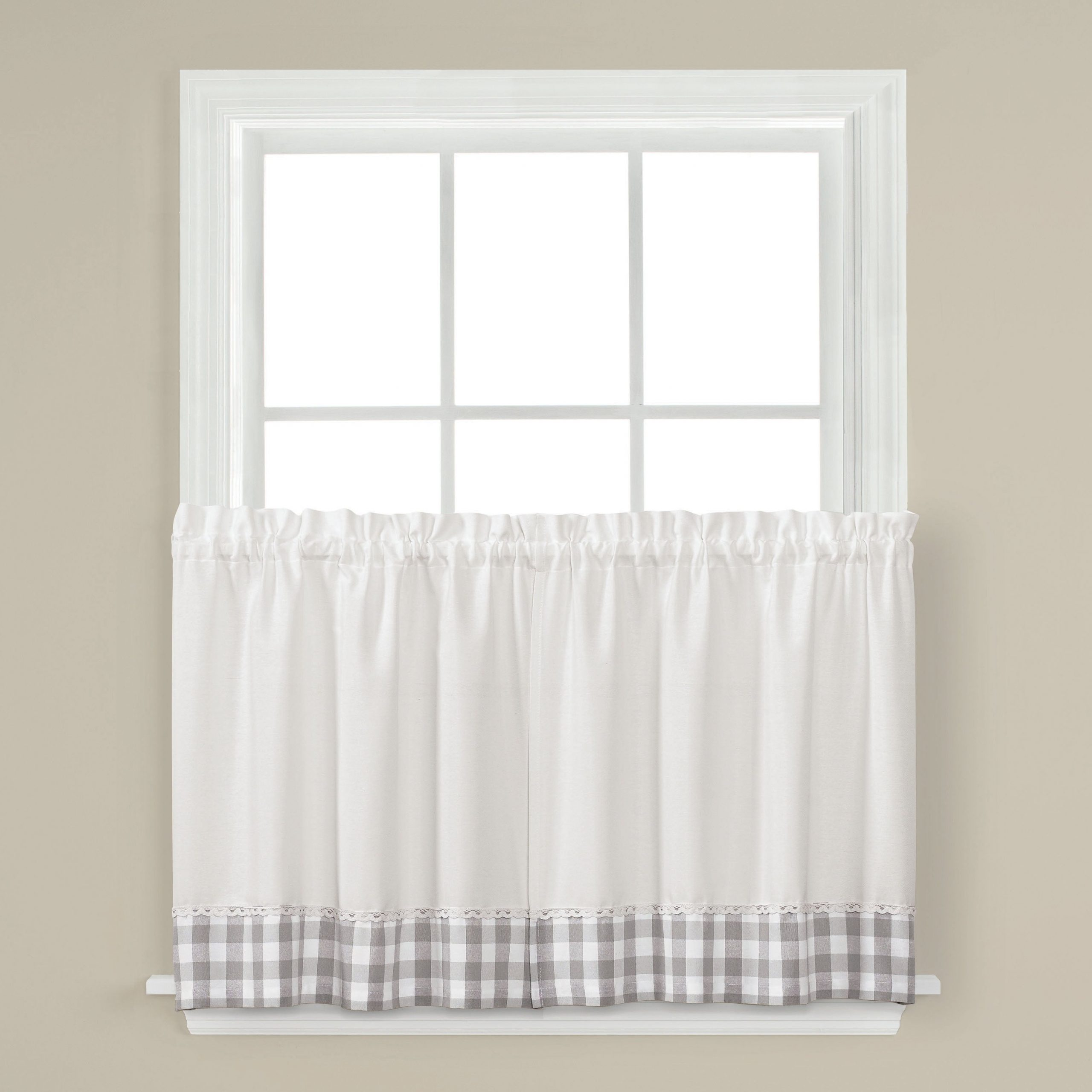Skl Home Cumberland 36 Inch Tier Pair In Dove Gray Regarding Well Known Dove Gray Curtain Tier Pairs (View 14 of 20)