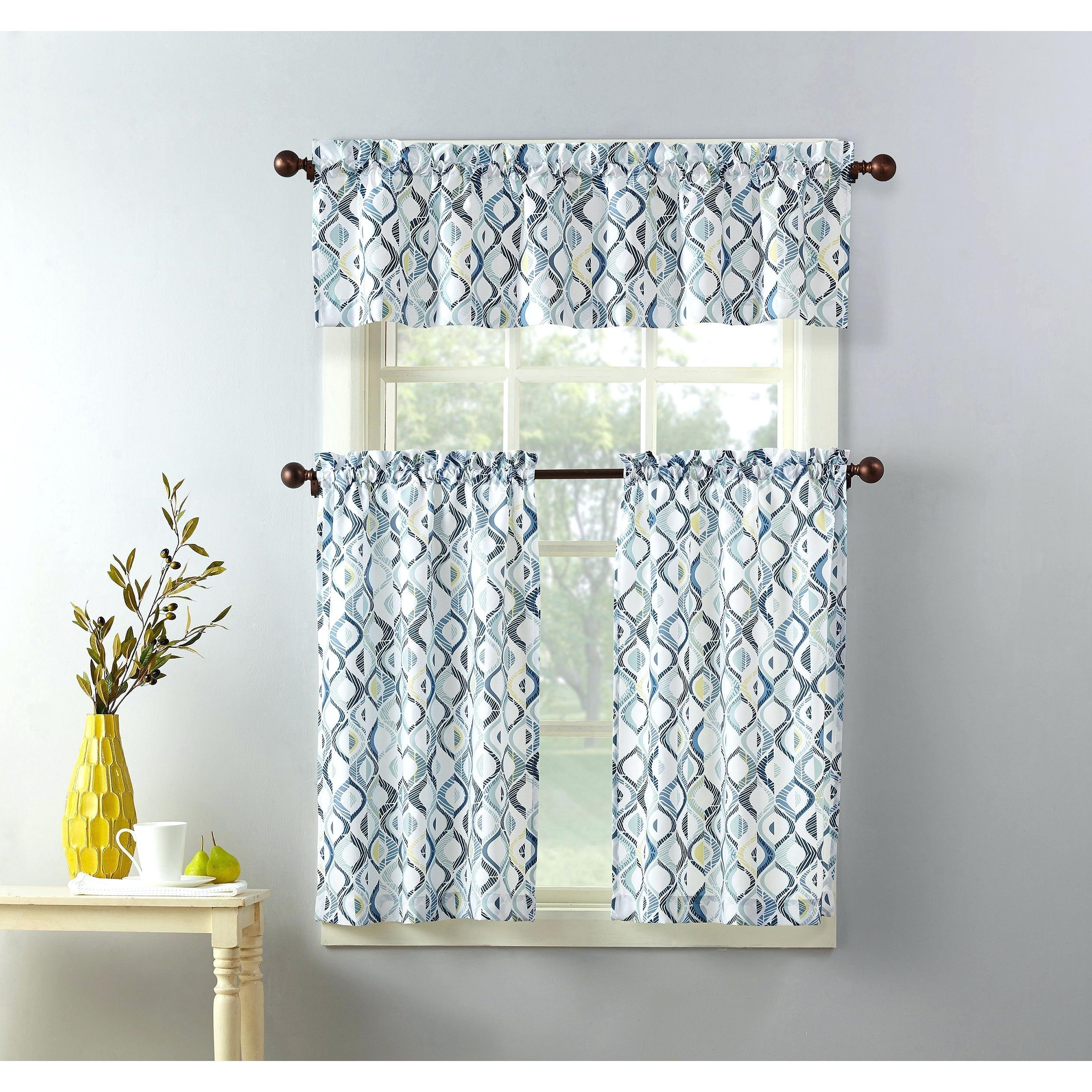 Solid Microfiber 3 Piece Kitchen Curtain Valance And Tiers Sets Throughout Well Liked Curtain Sets With Valance – Onsaturn (View 9 of 20)