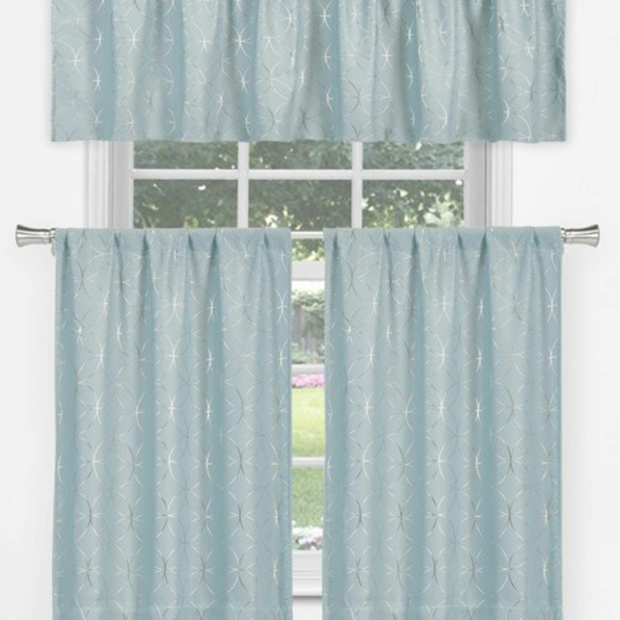 Spring Daisy Tiered Curtain 3 Piece Sets Throughout Most Recent Messier Tier 3 Piece Curtain Set (View 16 of 20)