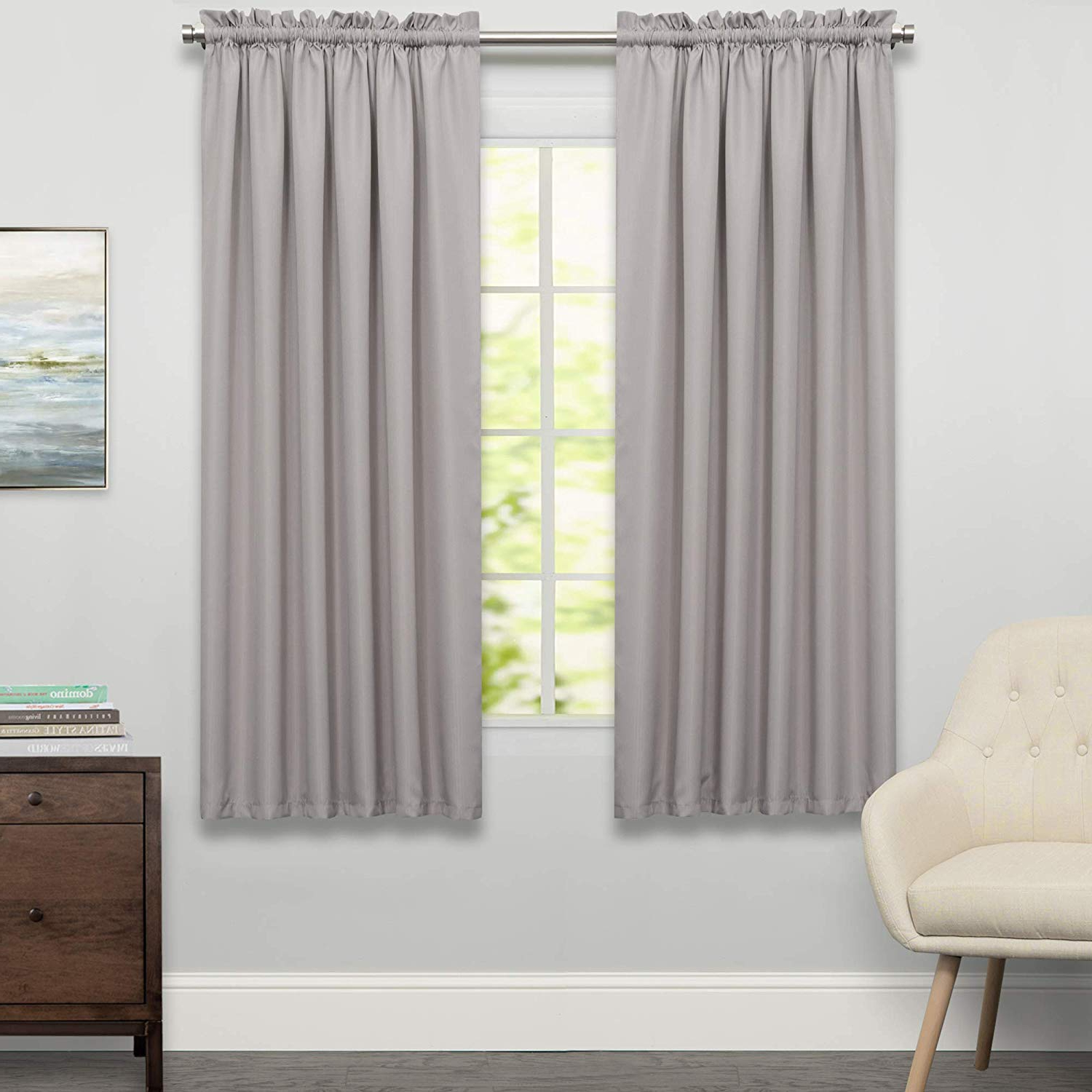 """Sweet Home Collection Adirondack Cotton Kitchen Window Curtains Pair, 36"""" Tier, Toast Within Popular Cotton Classic Toast Window Pane Pattern And Crotchet Trim Tiers (View 9 of 20)"""